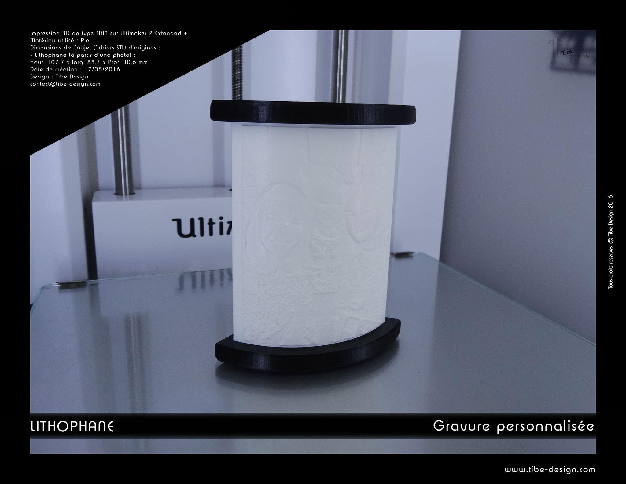Lithophane ou bas relief print 3D à partir d'une photo 2