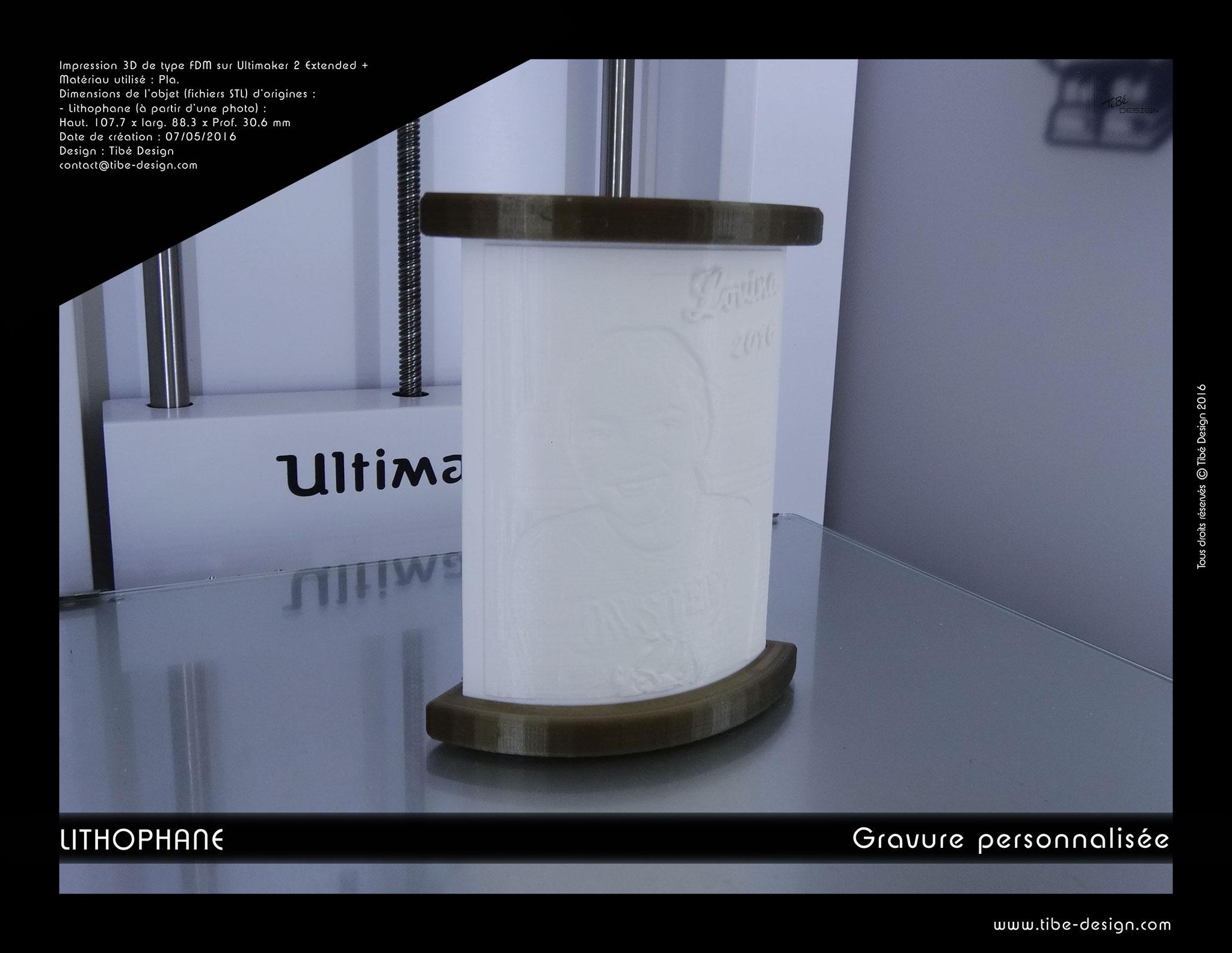 Lithophane ou bas relief print 3D à partir d'une photo 1