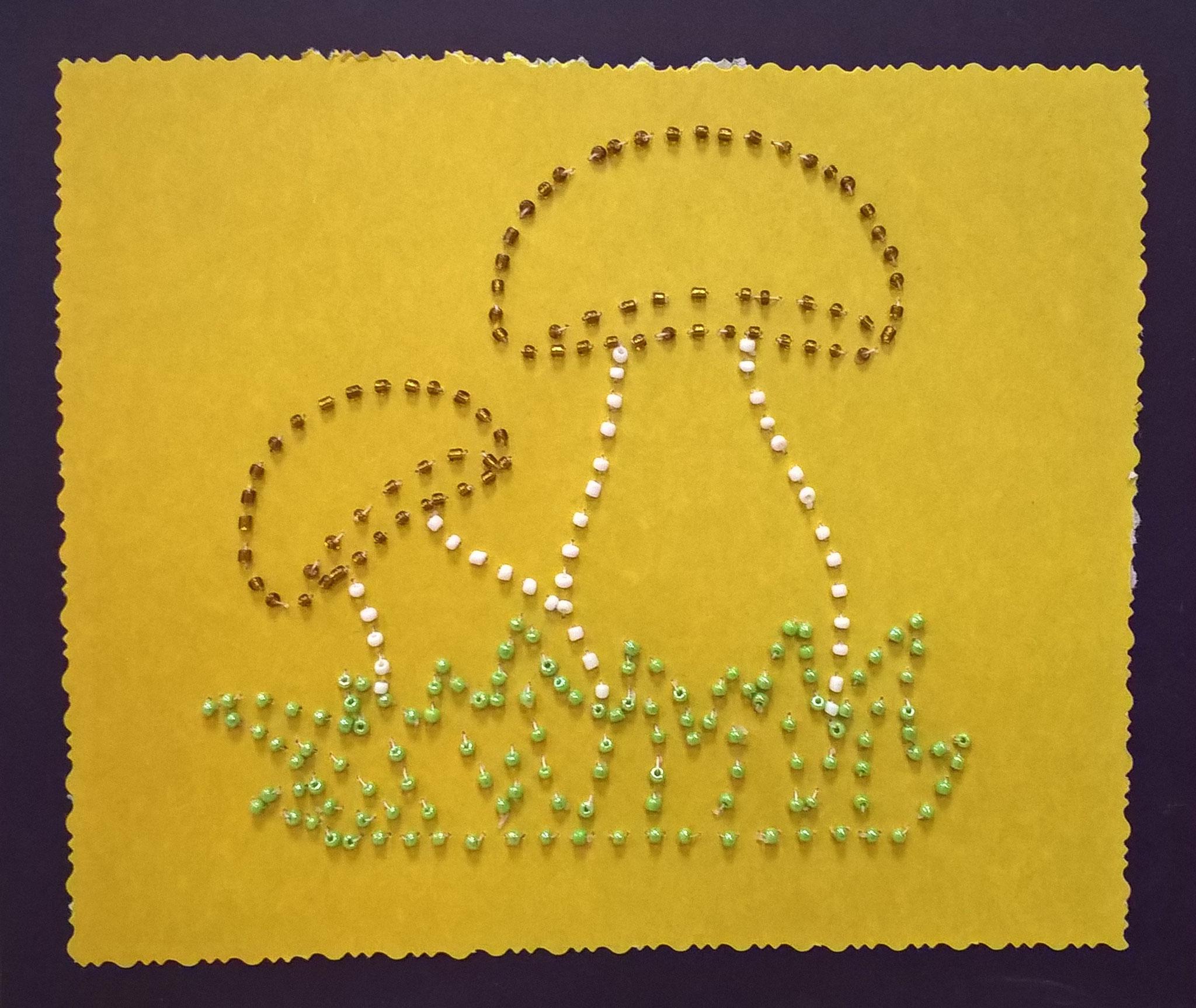 Вышивка бисером на картоне