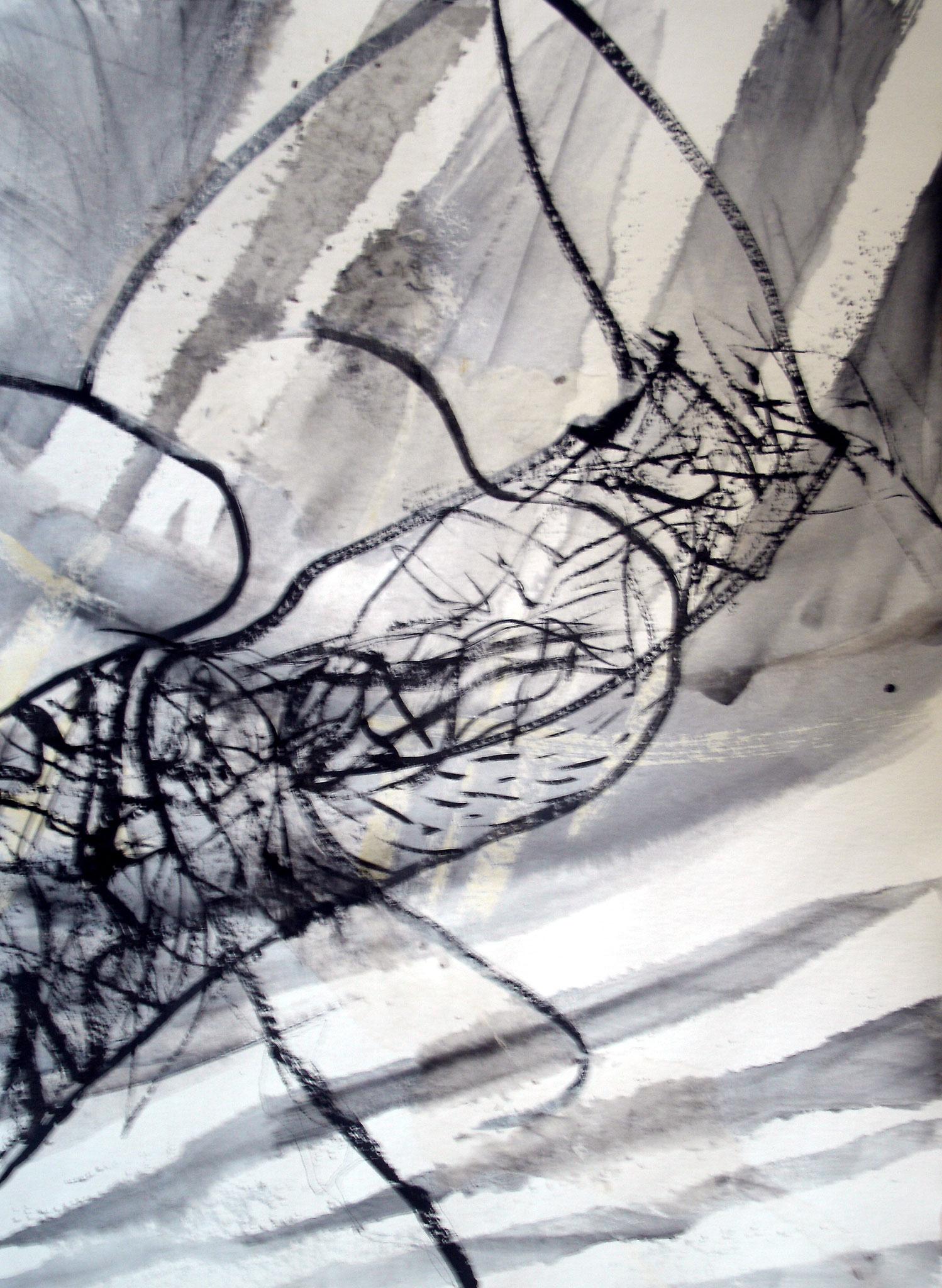DRÔLE D'OISEAU, aquarelle et technique mixte, 30'' X 22'', 400,00$