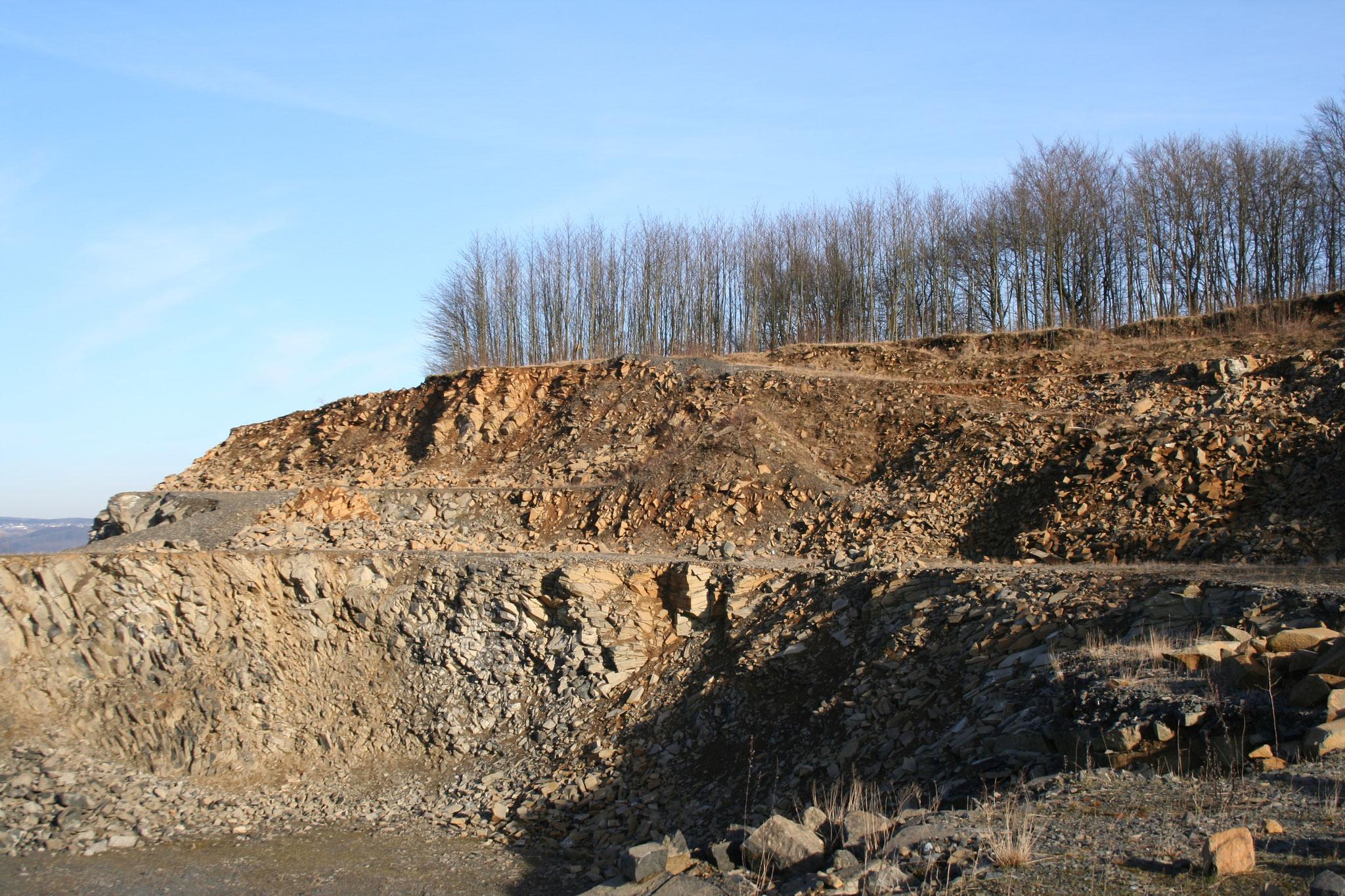 Steinbruch Stockum - Abraumhalde