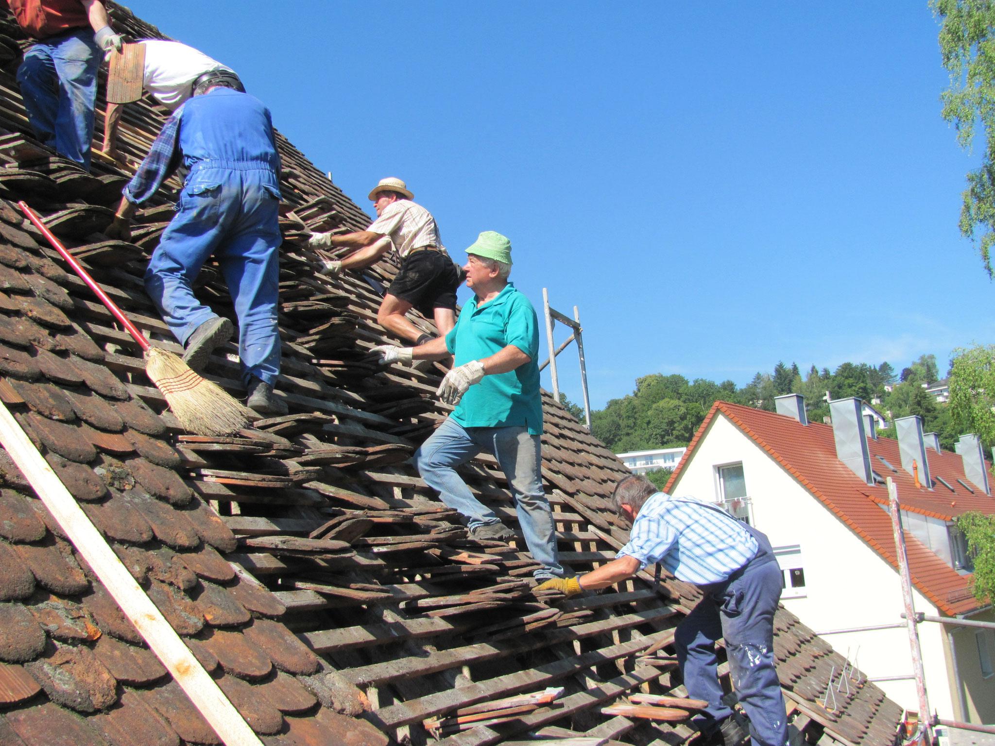 Sanierung des Dachs der Pfisterei