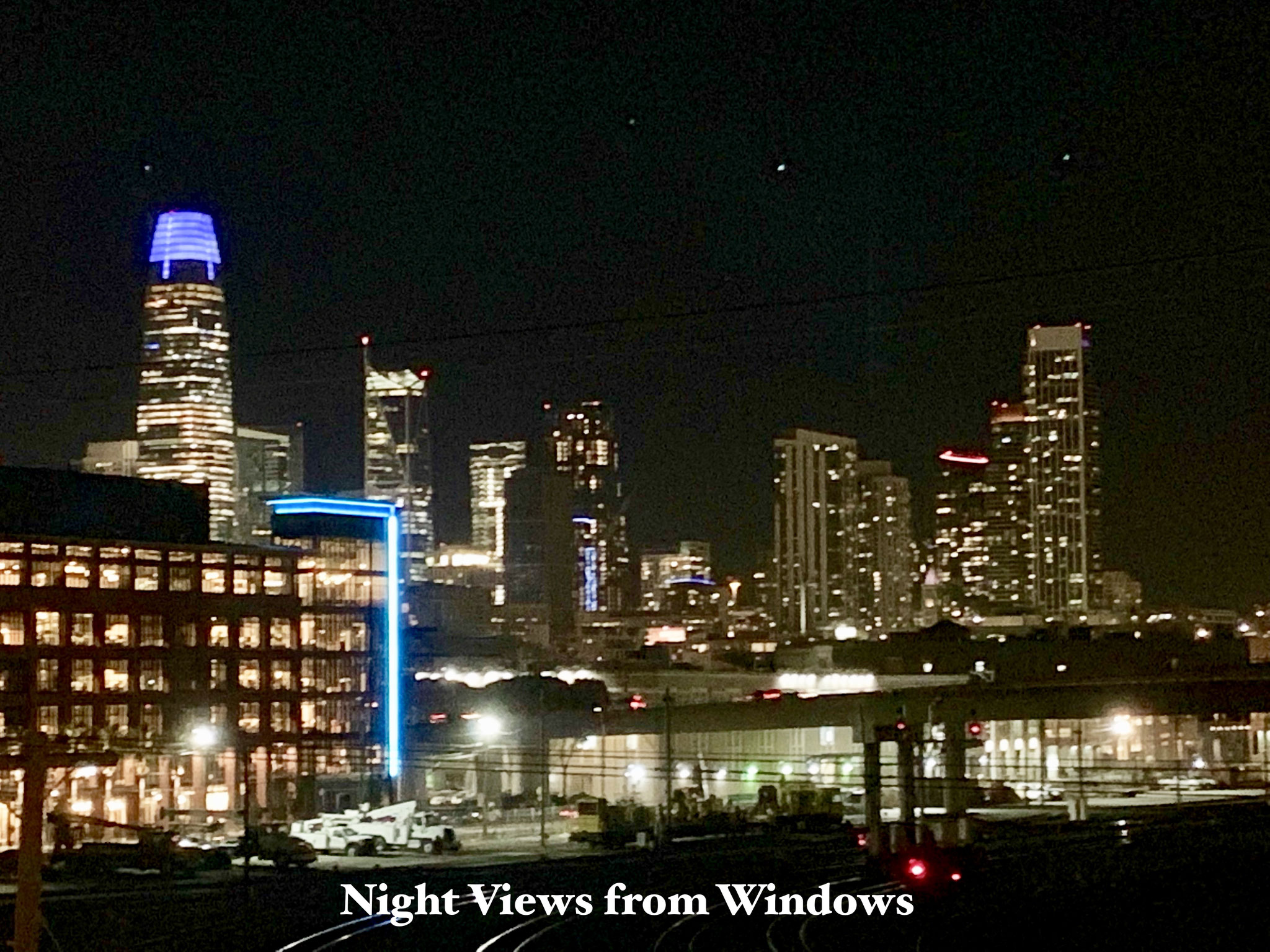 Night view from the unit