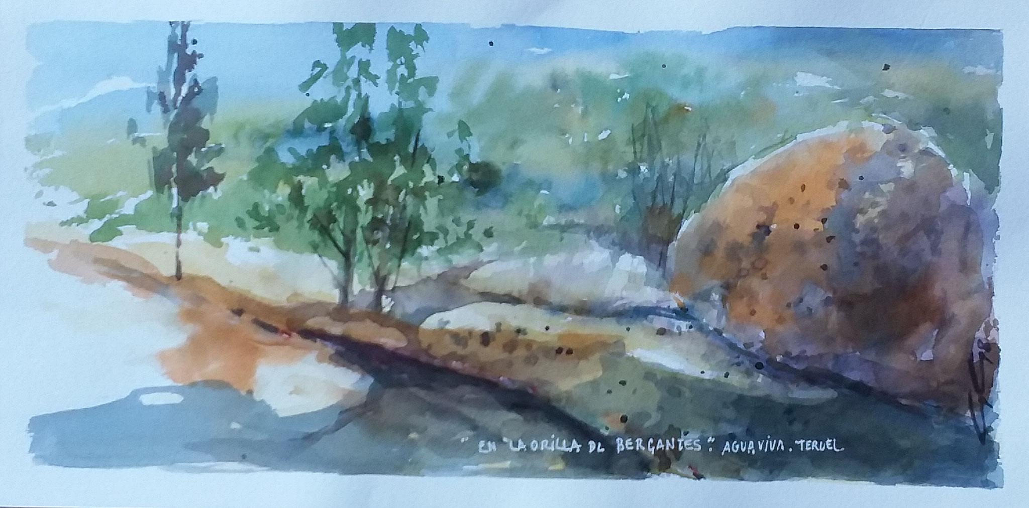 """""""En la orilla del rio Bergantes """"  40x20"""