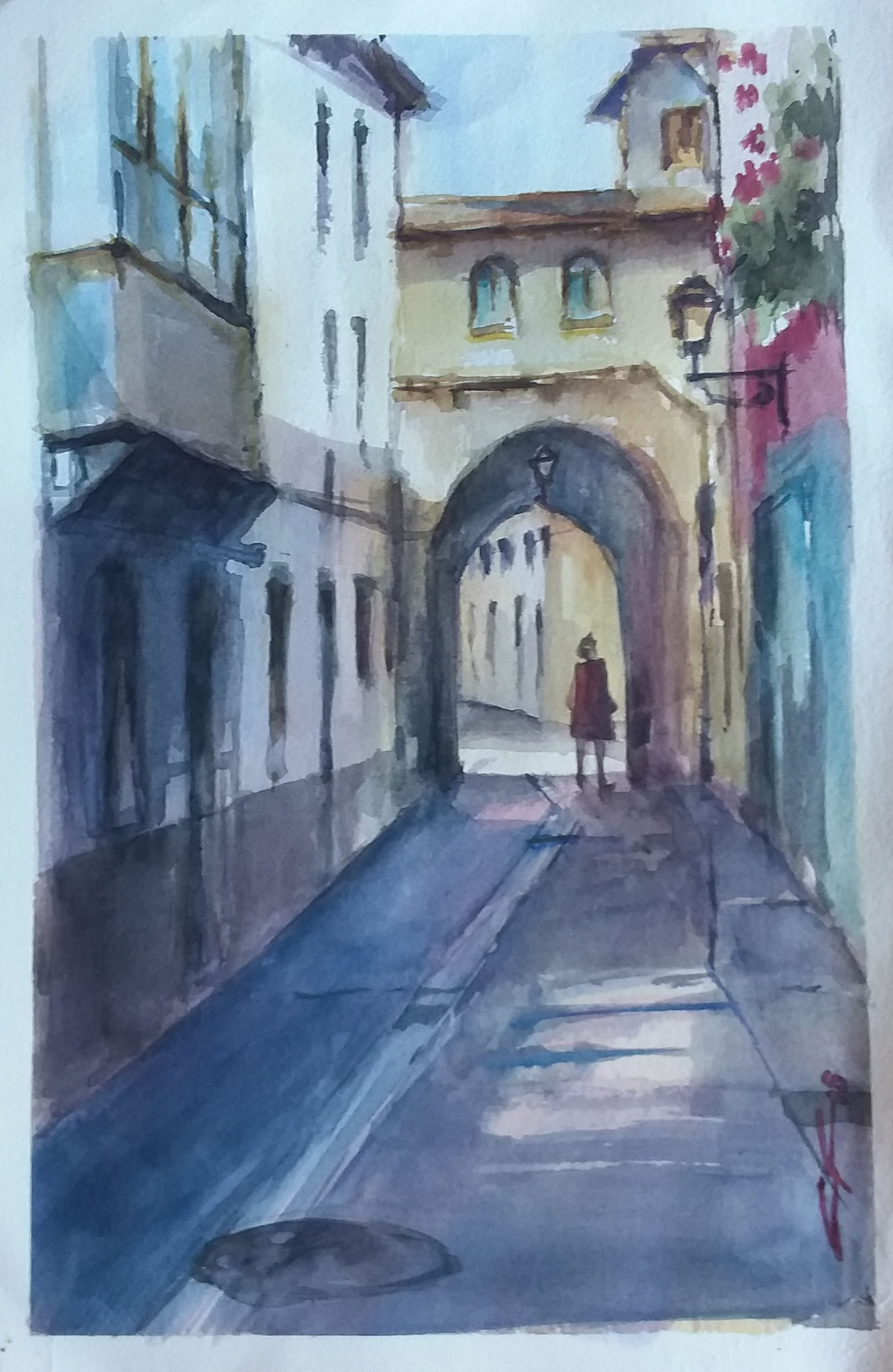 """"""" Arco de la cadena. Calle Mayor """"  30x40"""