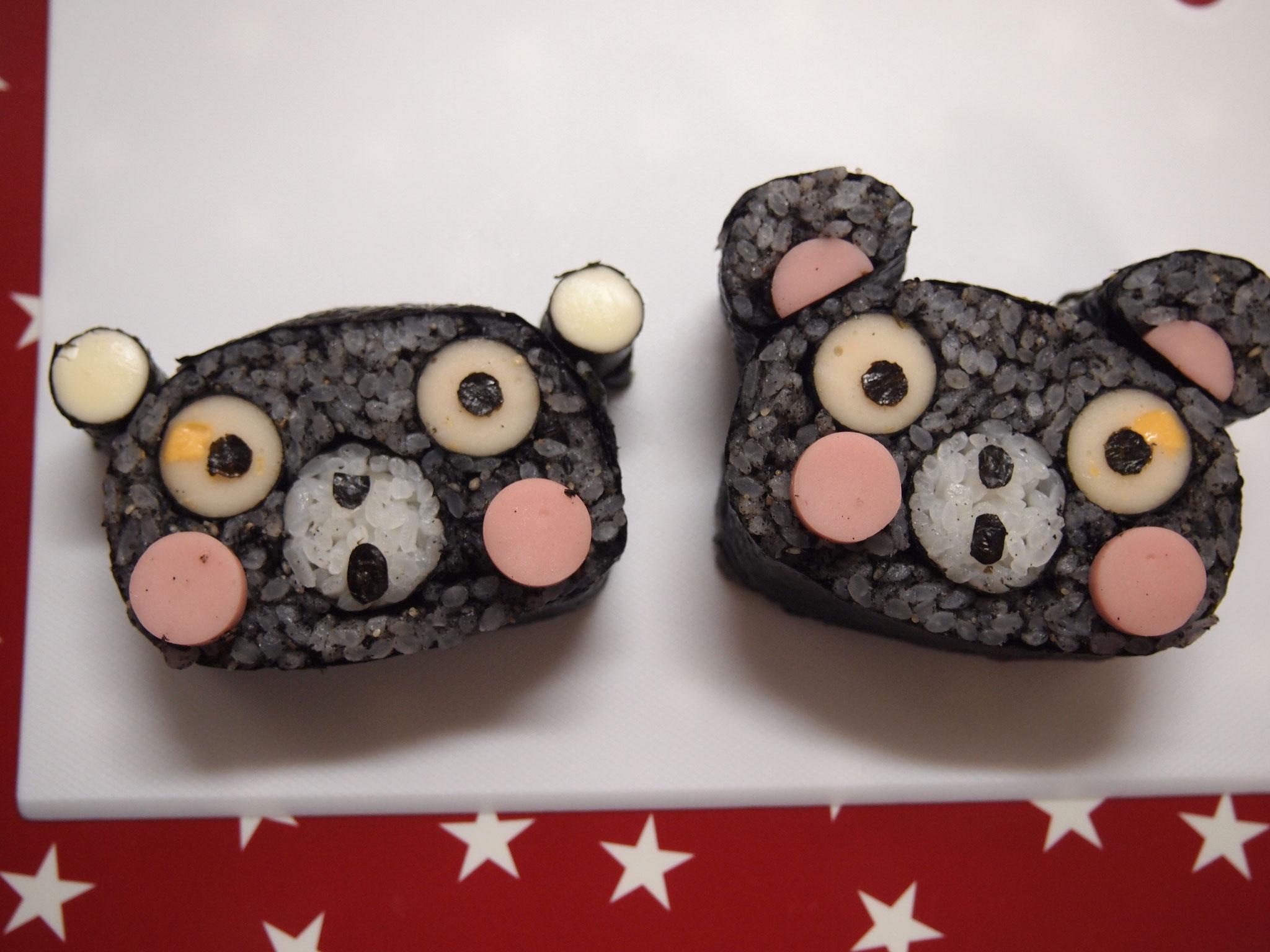 だれからも愛される くまモンみたいなキュートな熊さん。レッスン料2000円(税込み)他の柄と組み合わせてください。オリジナル