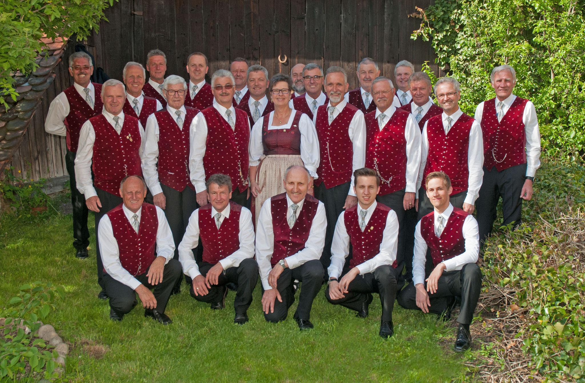 Die Sänger im Jubiläumsjahr 2017