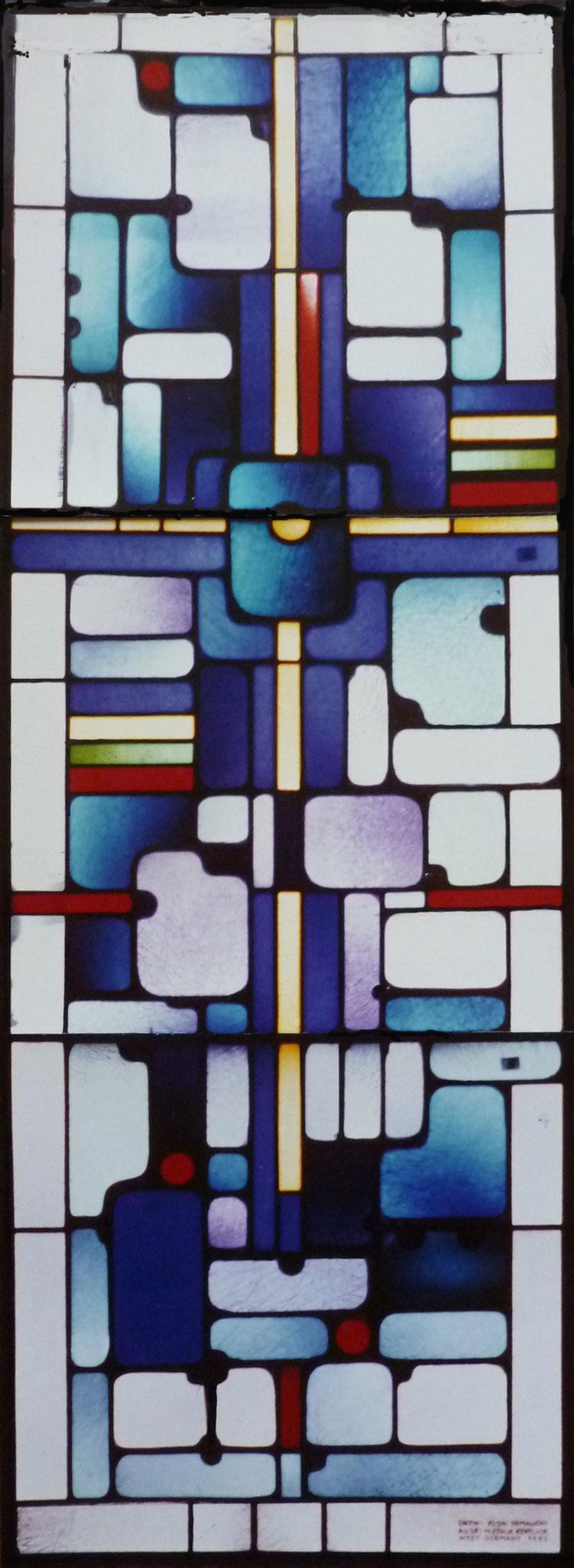 Fenster für Kapelle des Pristerseminars, Hiroshima 1988