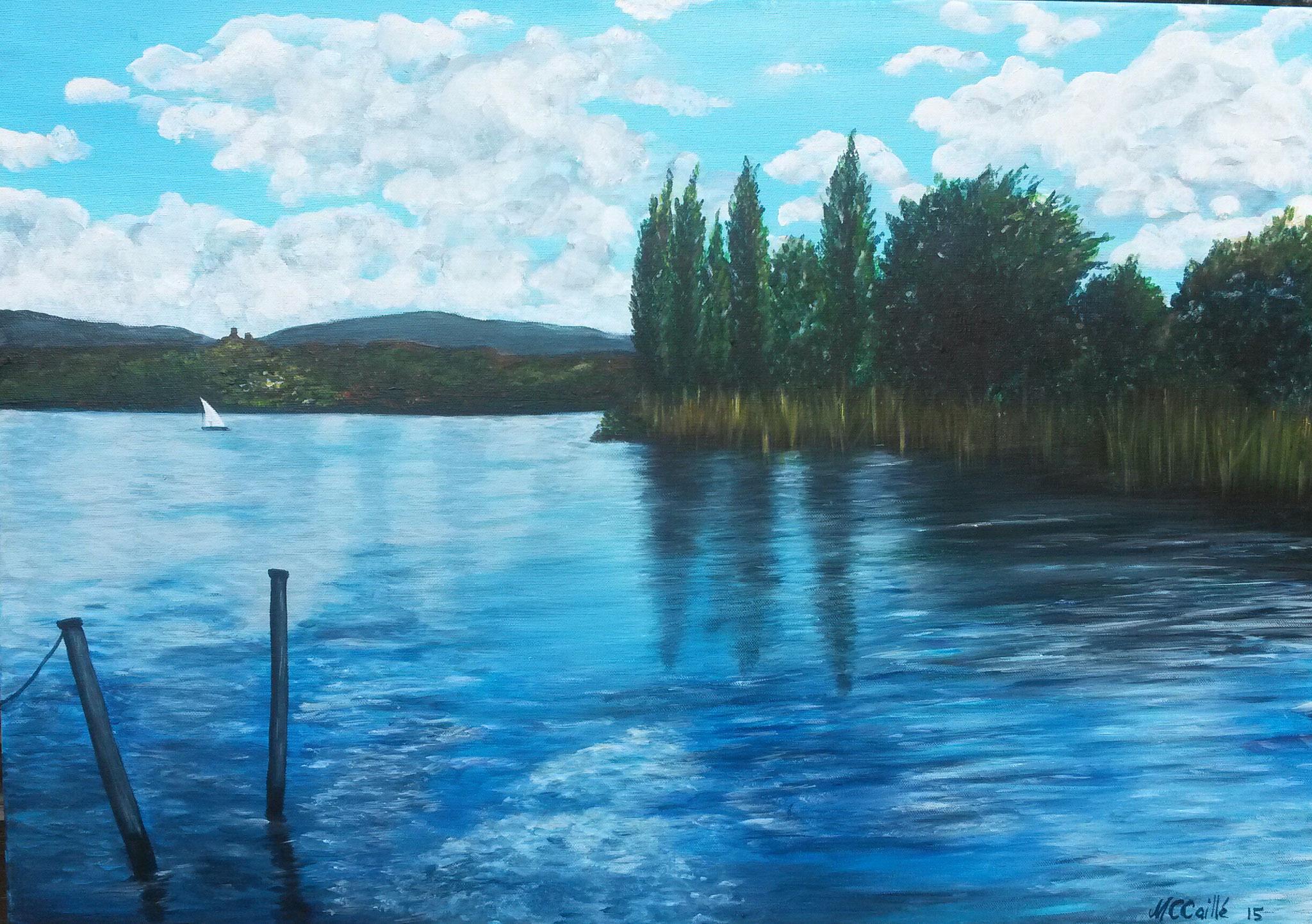 """""""""""Am Bodensee"""" - Acryl auf Leinwand / """"Lac de Constance"""" - Acrylique sur toile   50 x 70 cm"""