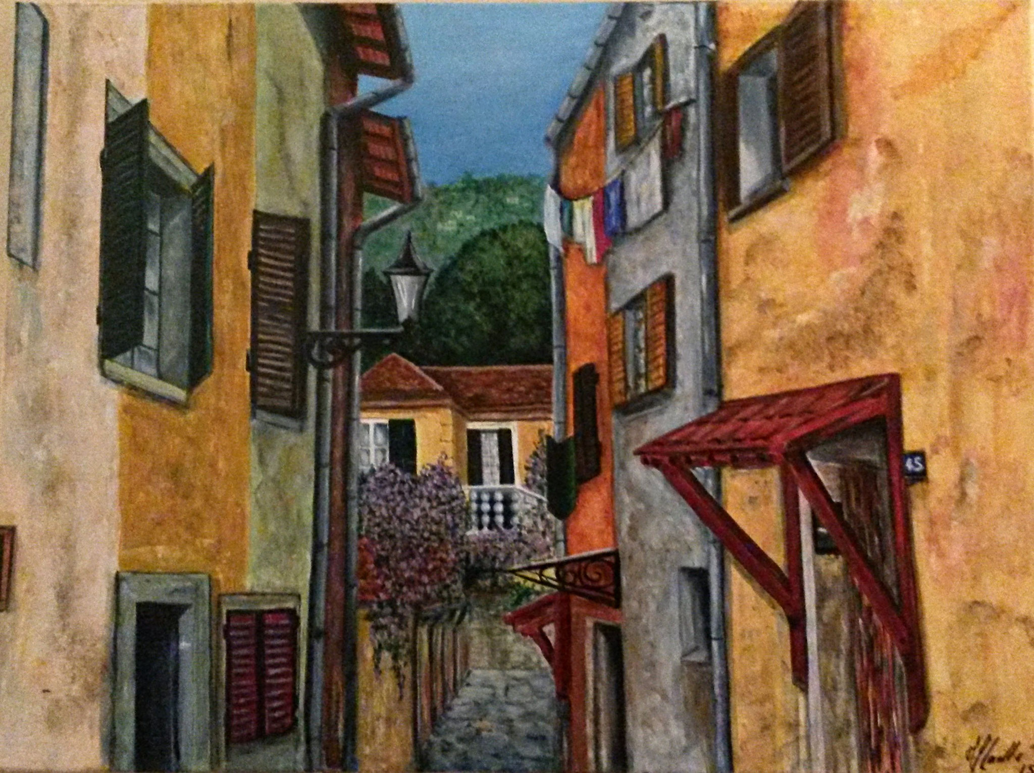 """Perspective Sud""- Acryl auf Leinwand / Acrylique sur toile  60 x 80 cm"