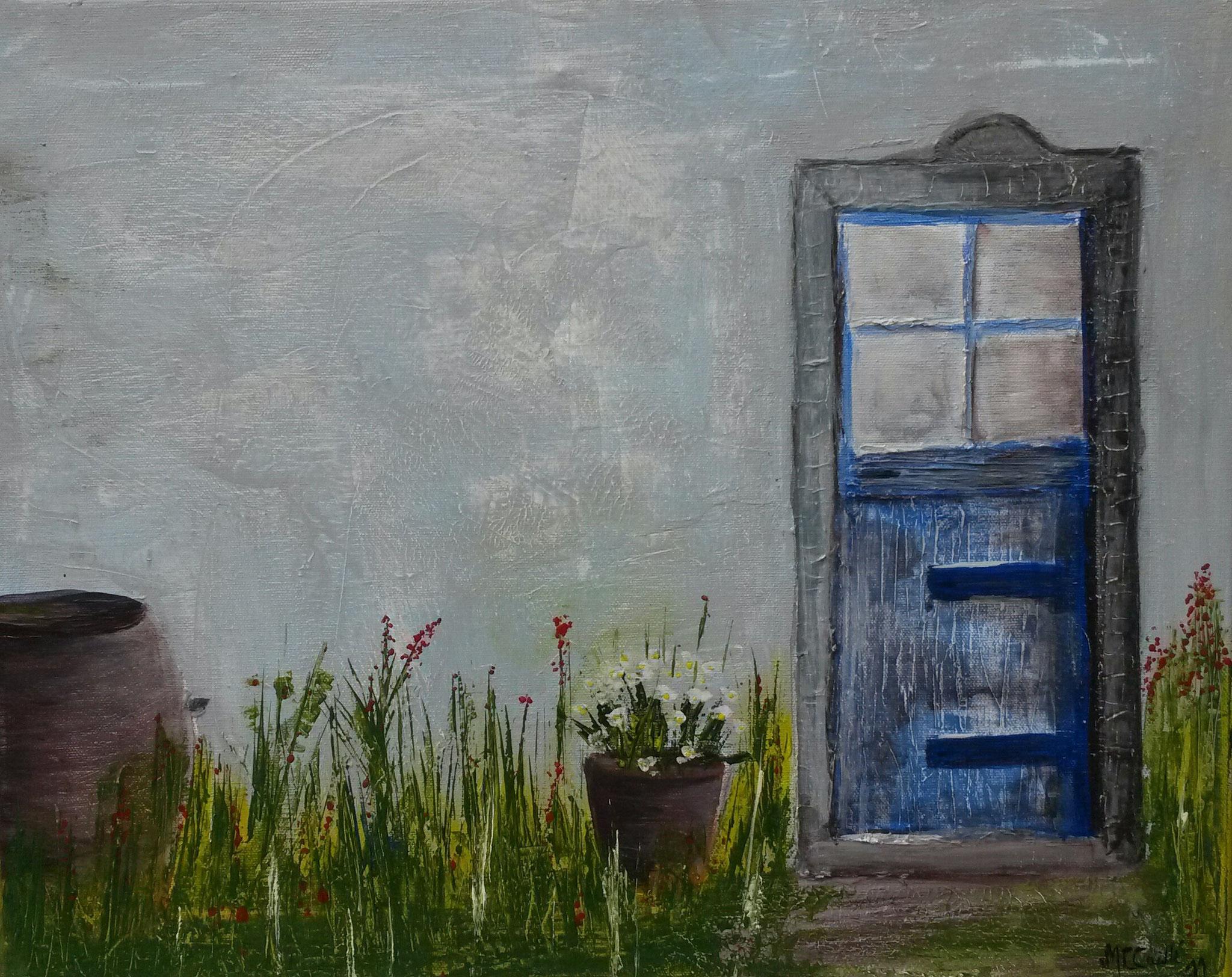 """Campagne"" - Acryl auf Leinwand  / ""Campagne - Acrylique sur toile  40 x 50 cm"