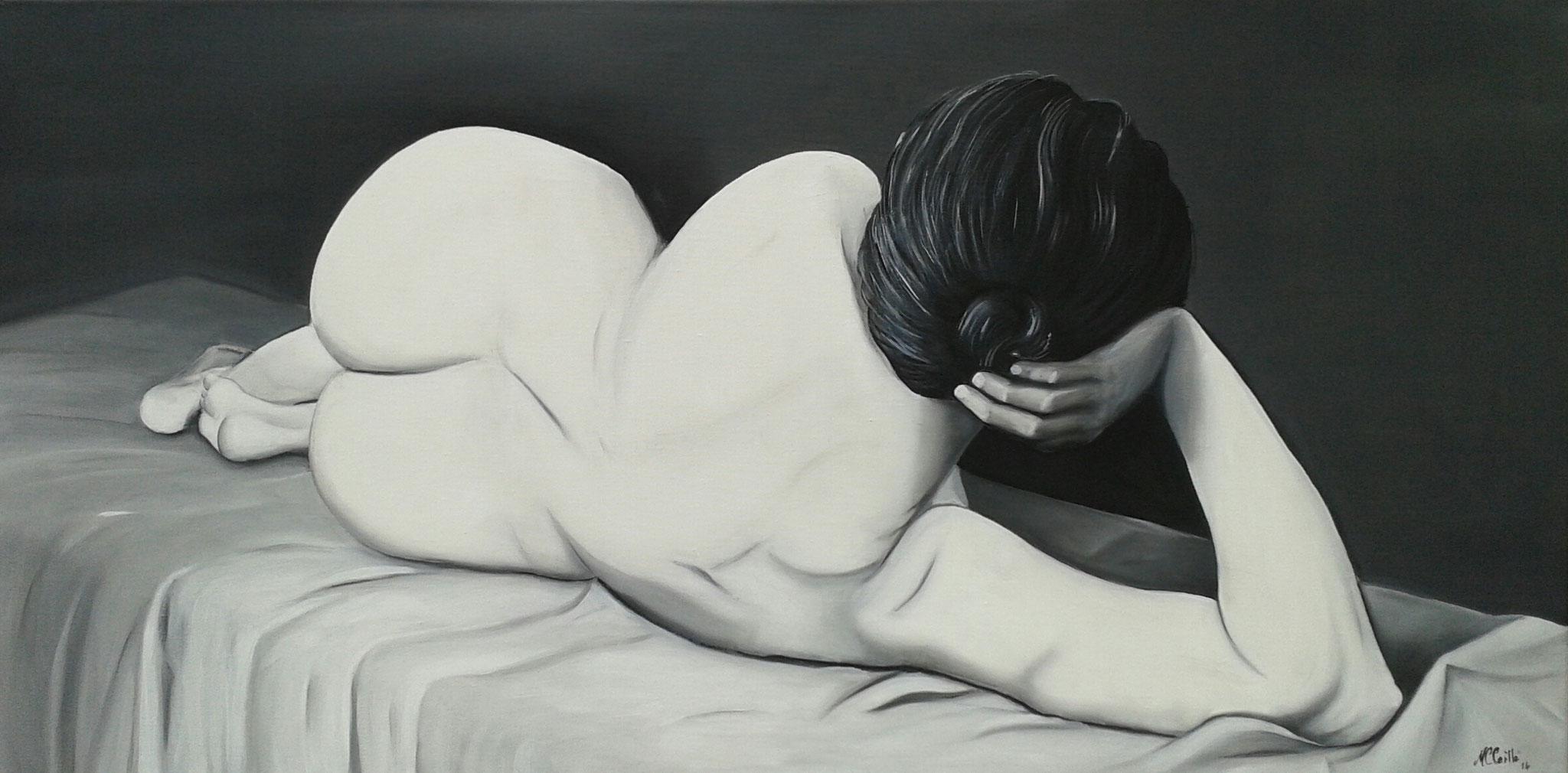 """Irene"" Öl auf Leinwand / Huile sur toile 50 x 100 cm"