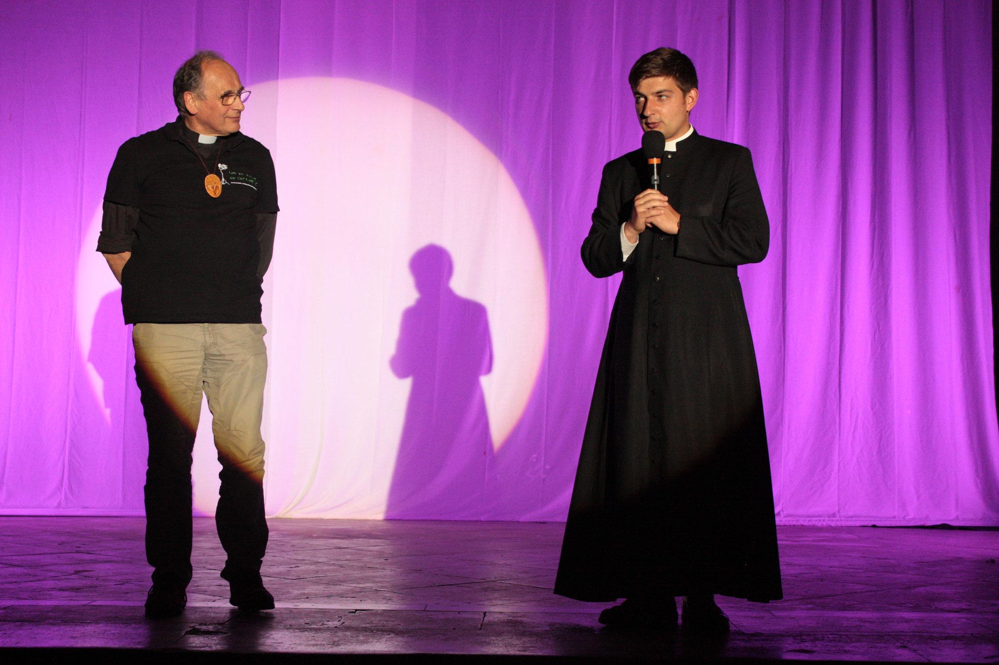 Père Serge et Père Raphaël - photo JDR