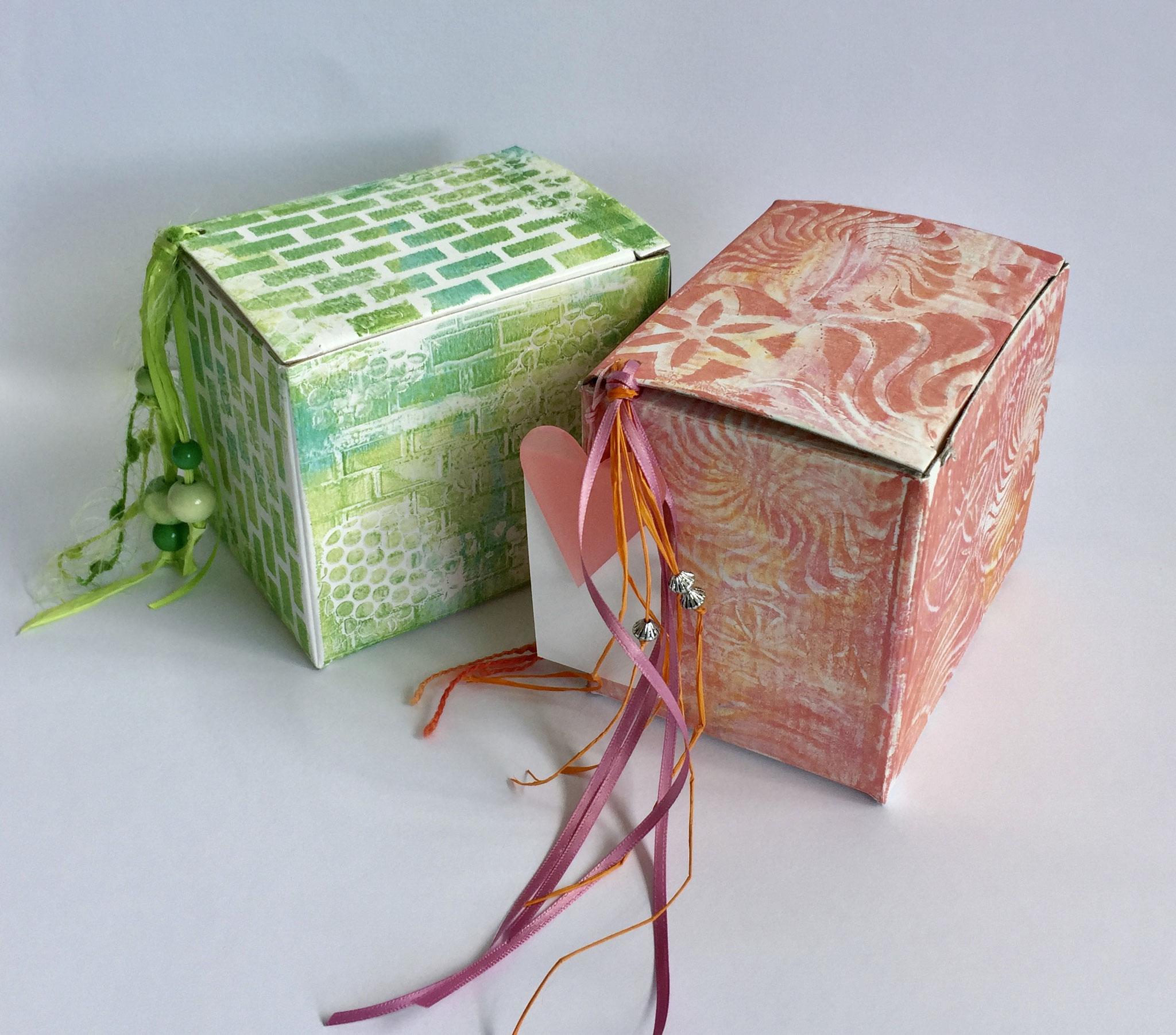 Geschenkboxen, Gelliplatedruck