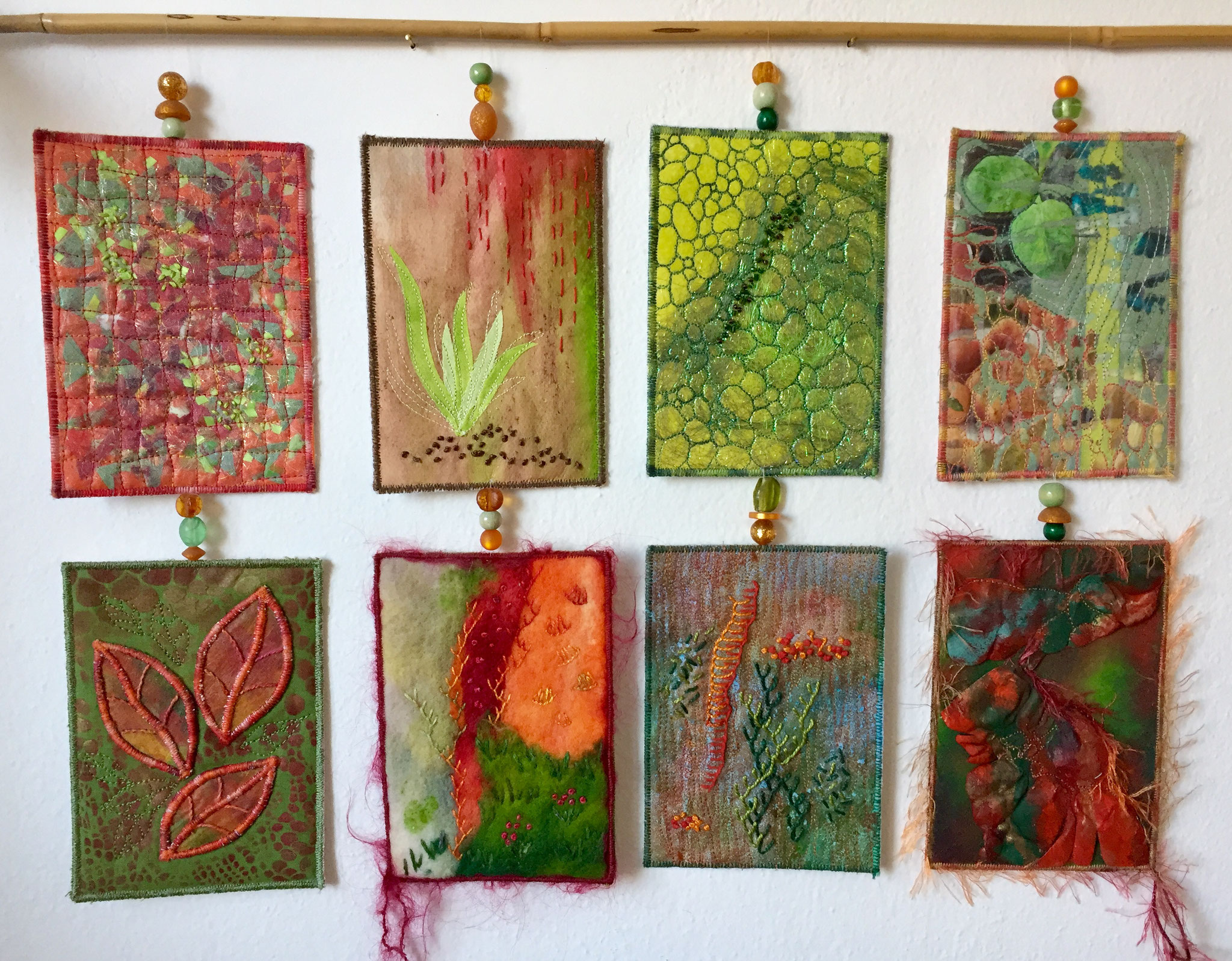 Textile Experimente, Karten