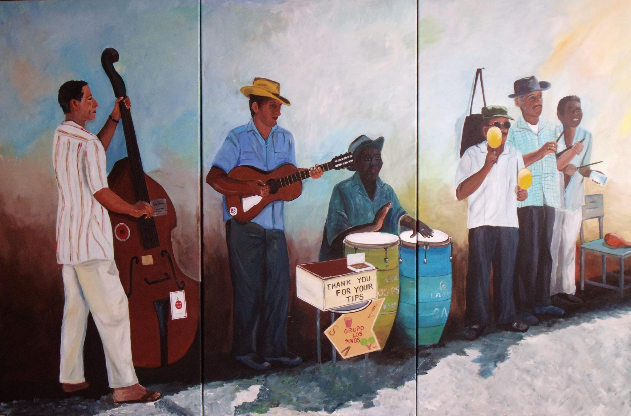 Musica en Vivo, Triptychon (3x 120x60 cm)