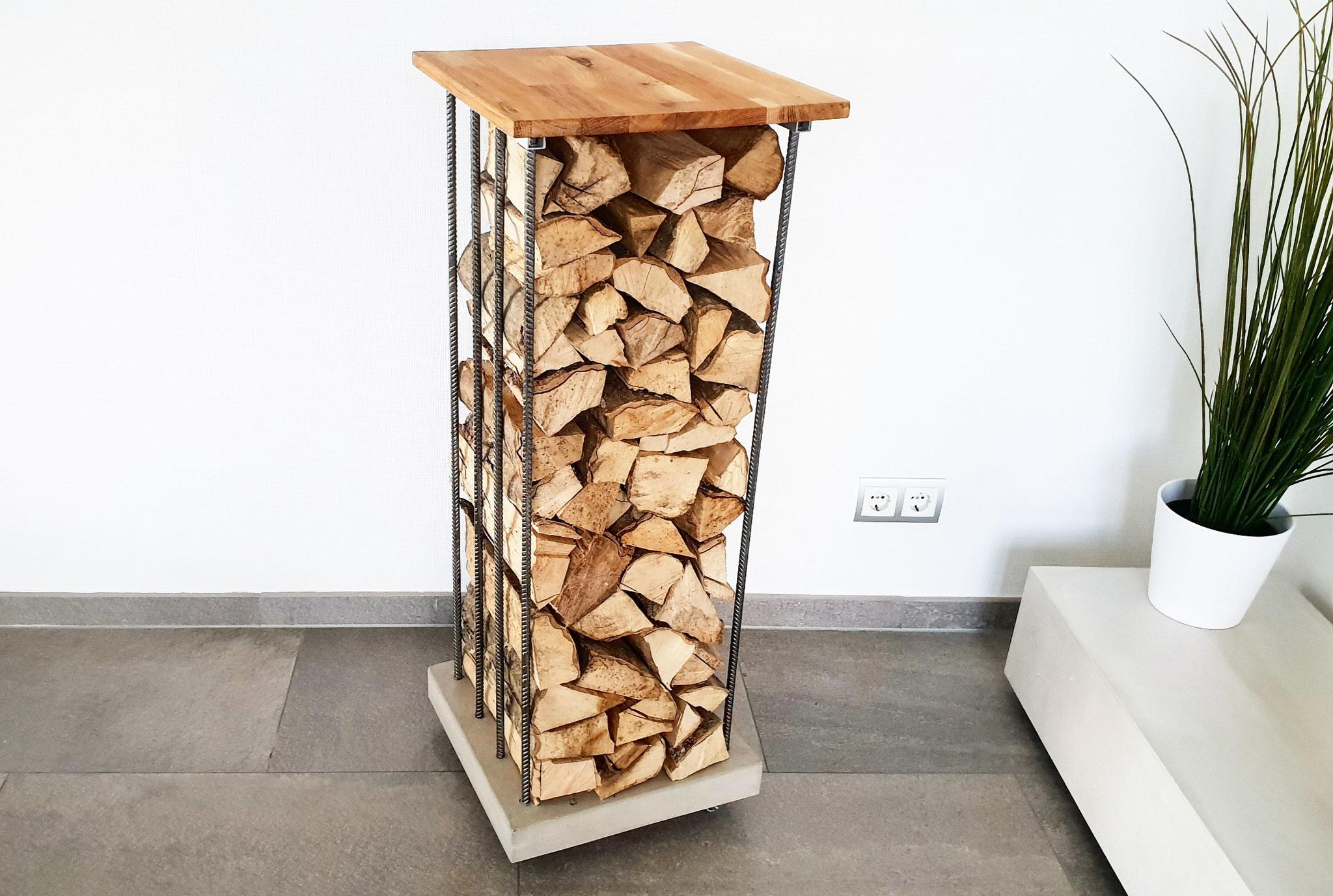 Ein Kaminholzregal Aus Beton Stahl Und Holz Selber Bauen Baue
