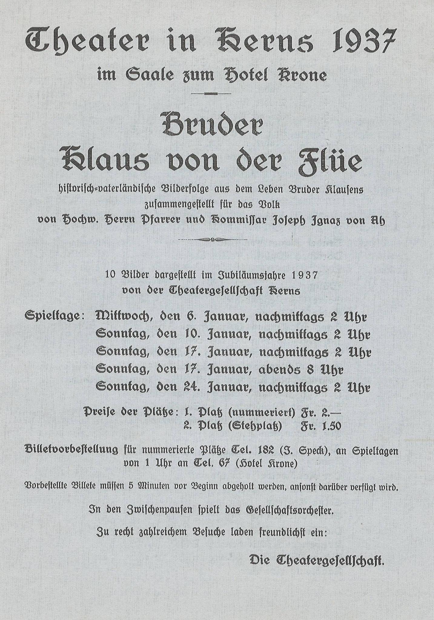 1937 Vorderseite