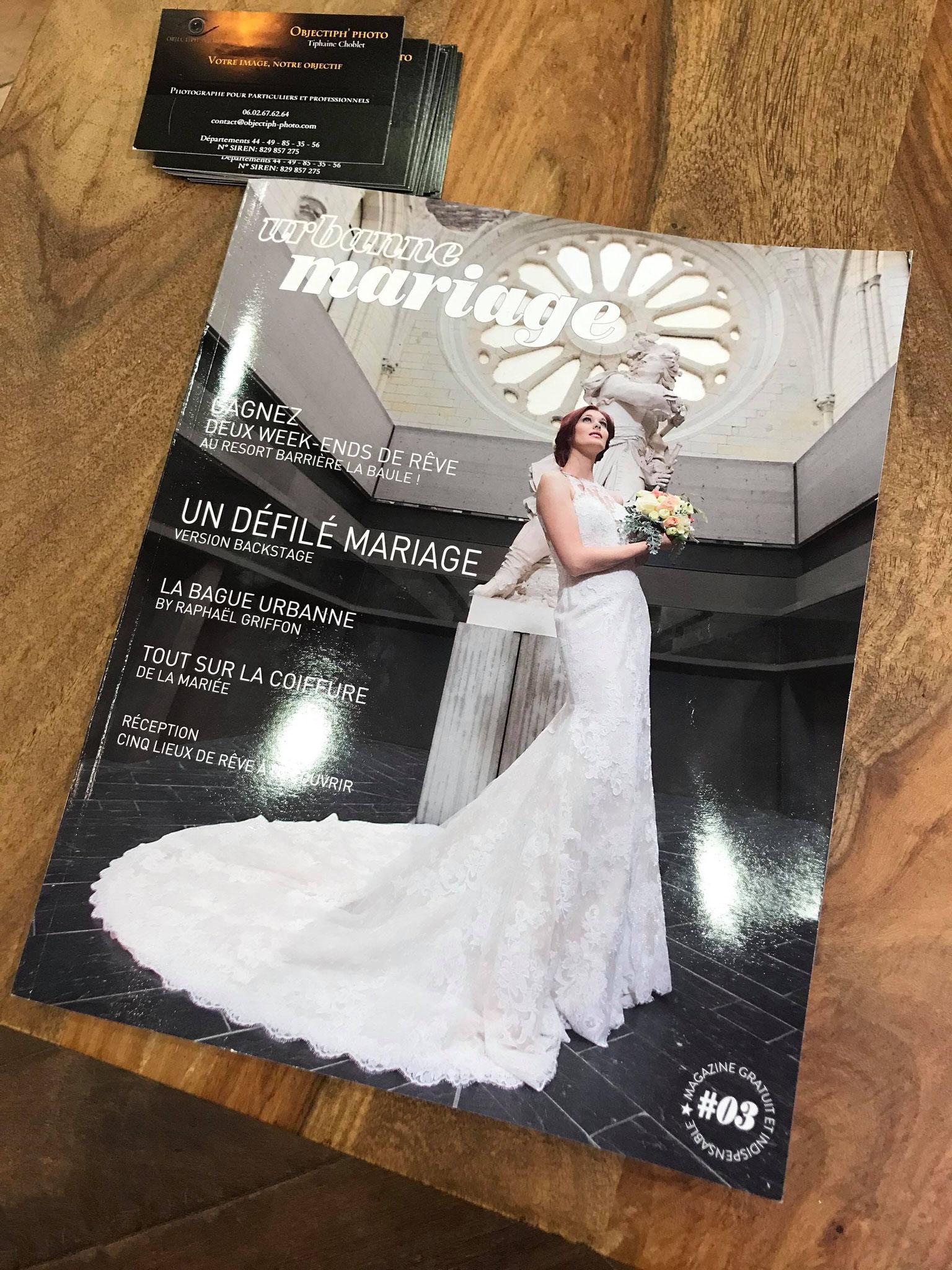 Publication des photos pour publicité Anthony coiffure Angers dans Urbanne mariage magazine