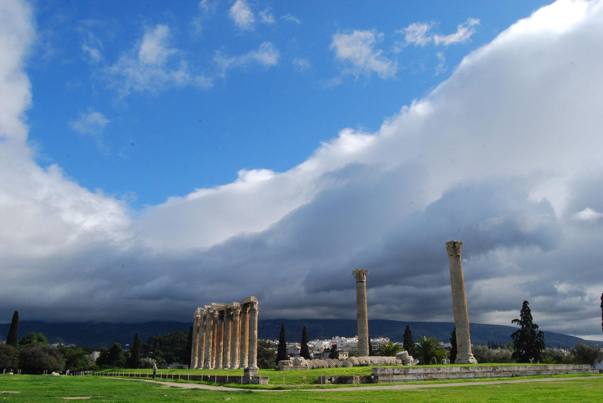 Olympiéion ou le temple de Zeus olympien à Athènes
