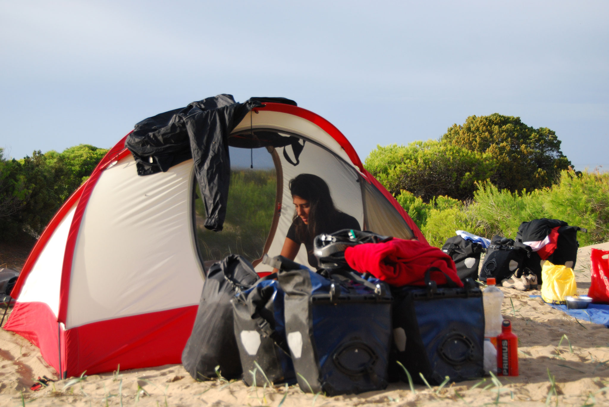 Free camp sur la plage