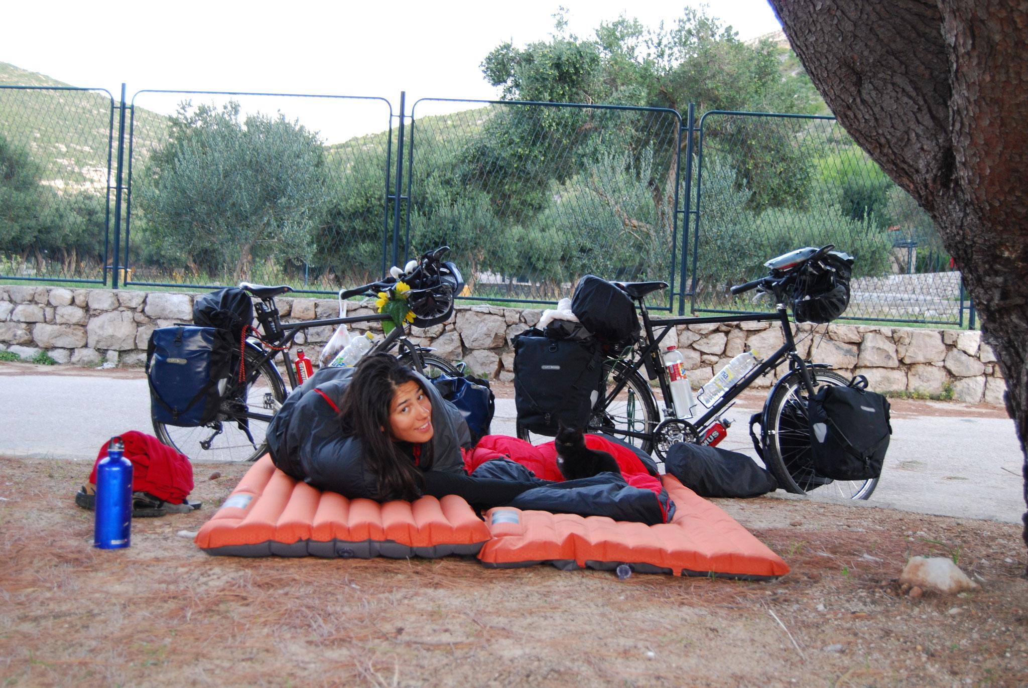 Camping sauvage à Ston