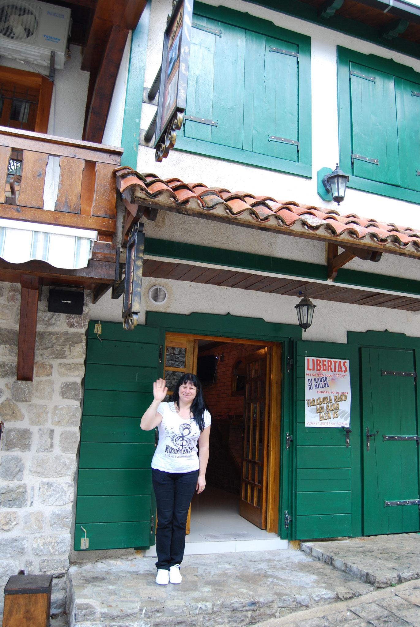 La chaleureuse accueil du petit hotel à Stari Bar
