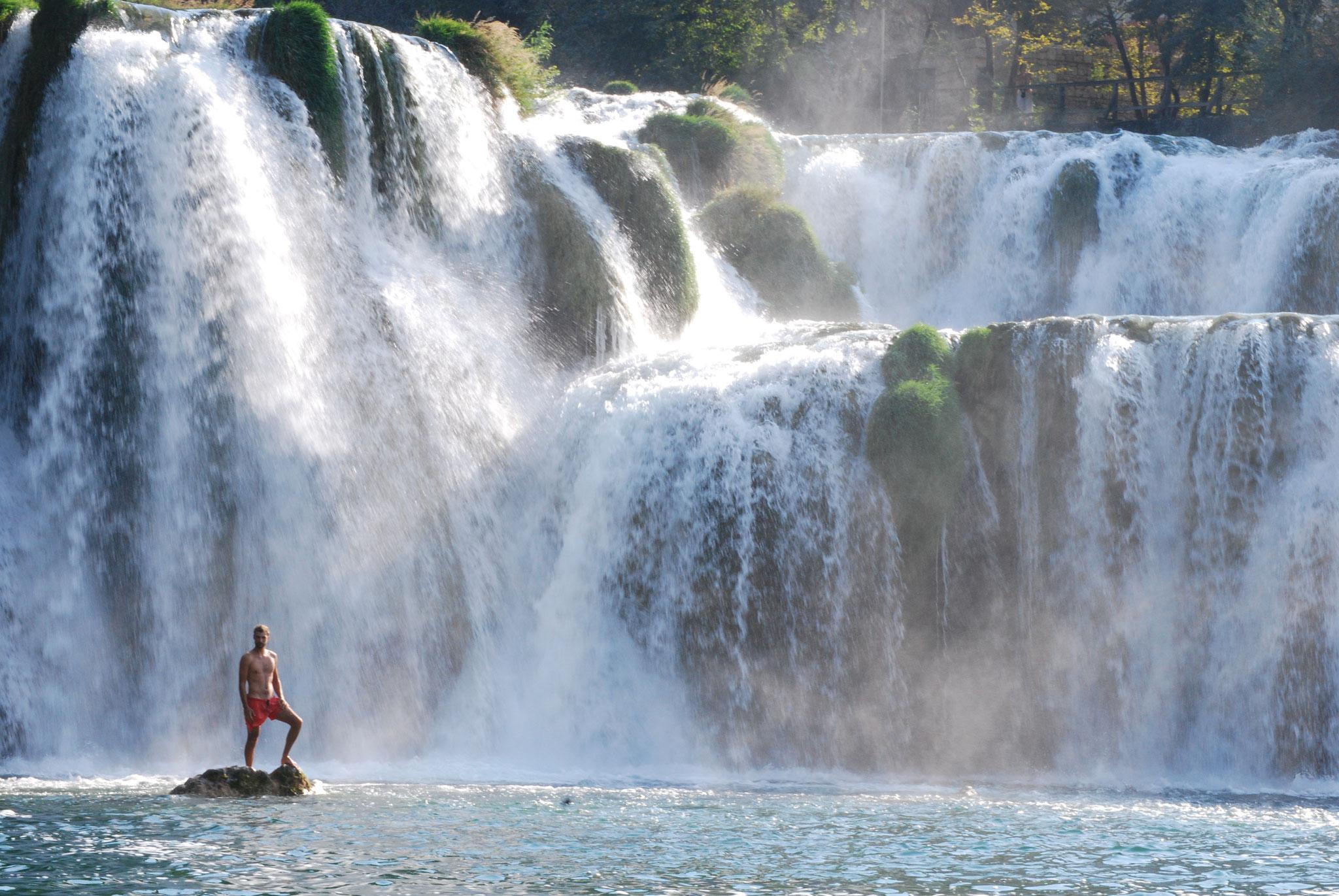 Les cascades de Stradinski Buk dans le parc national de KRKA
