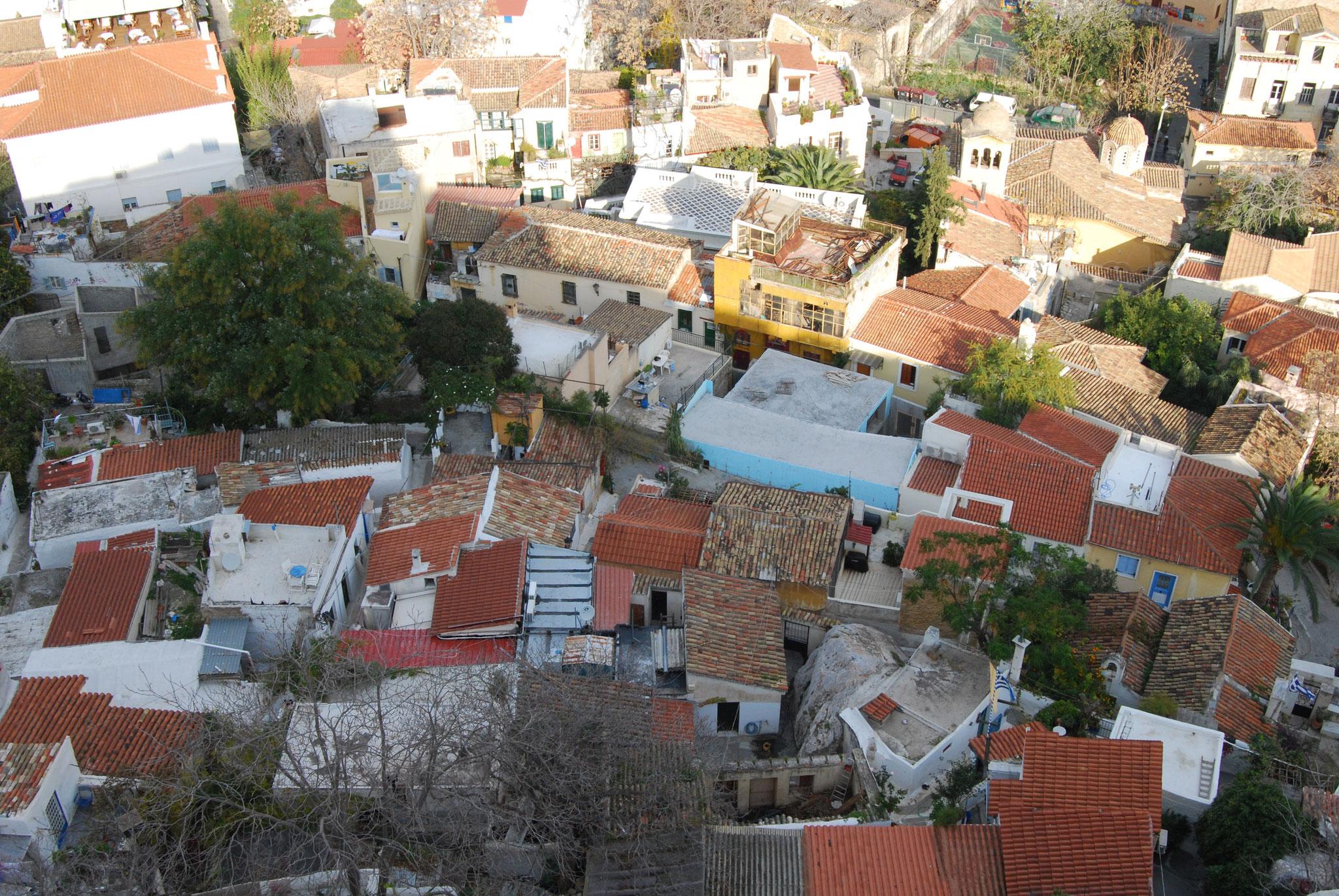 Quartier de Plaka à Athènes