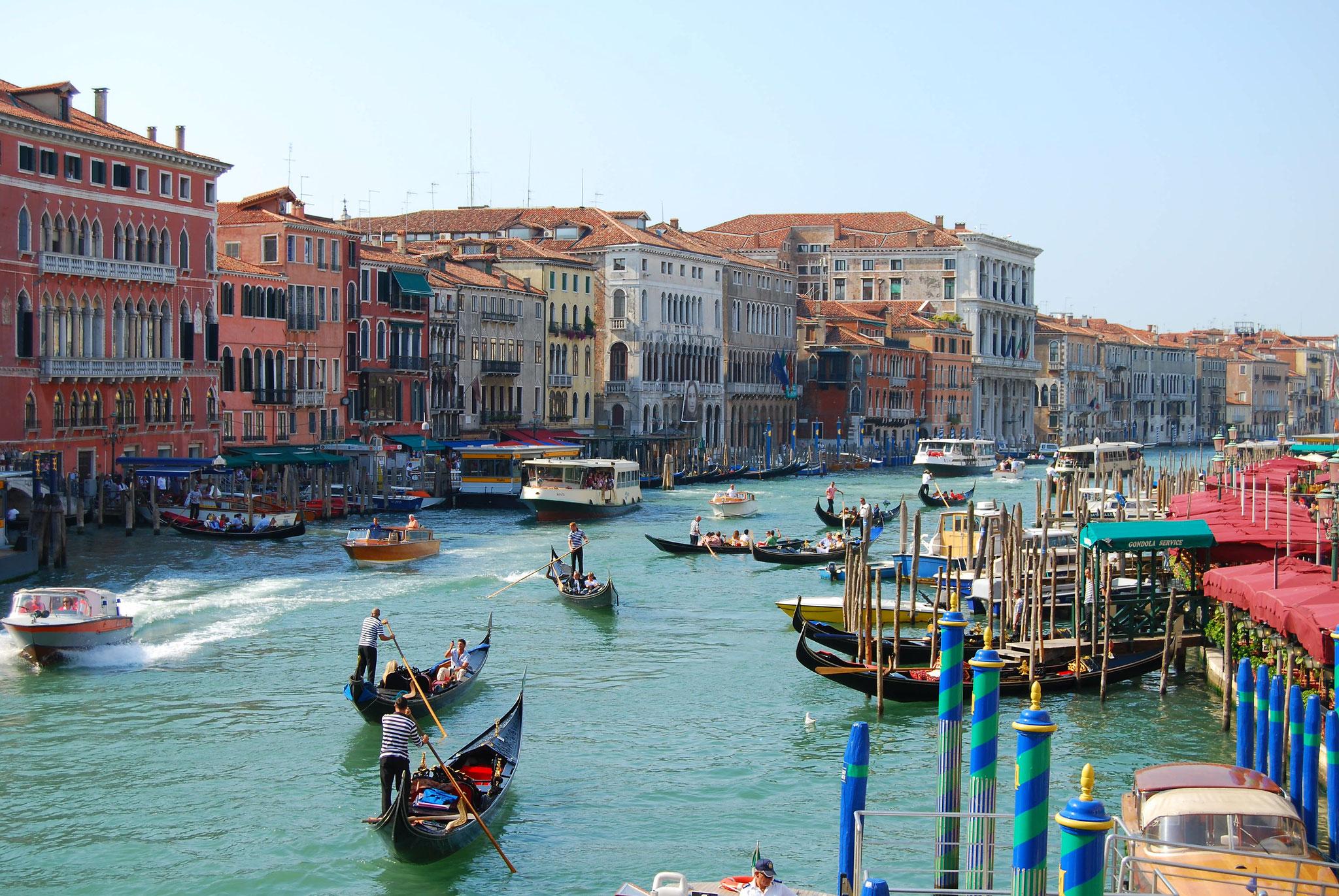 Depuis le Pont Rialto à Venise