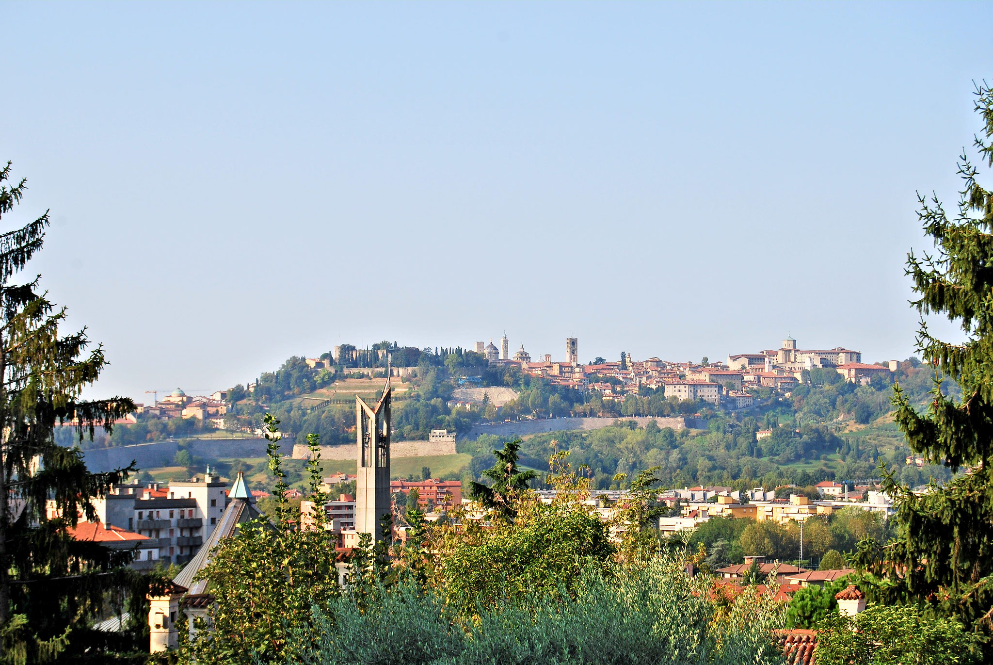 Vue sur Bergamo