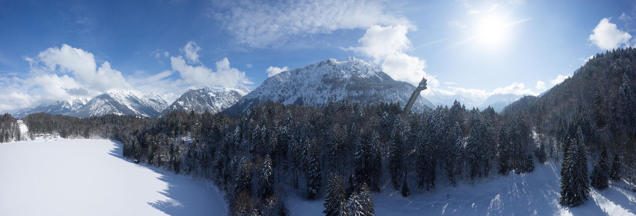 "Heini-Klopfer-Skiflugschanze, Bildrechte ""TourismusOberstdorf"""