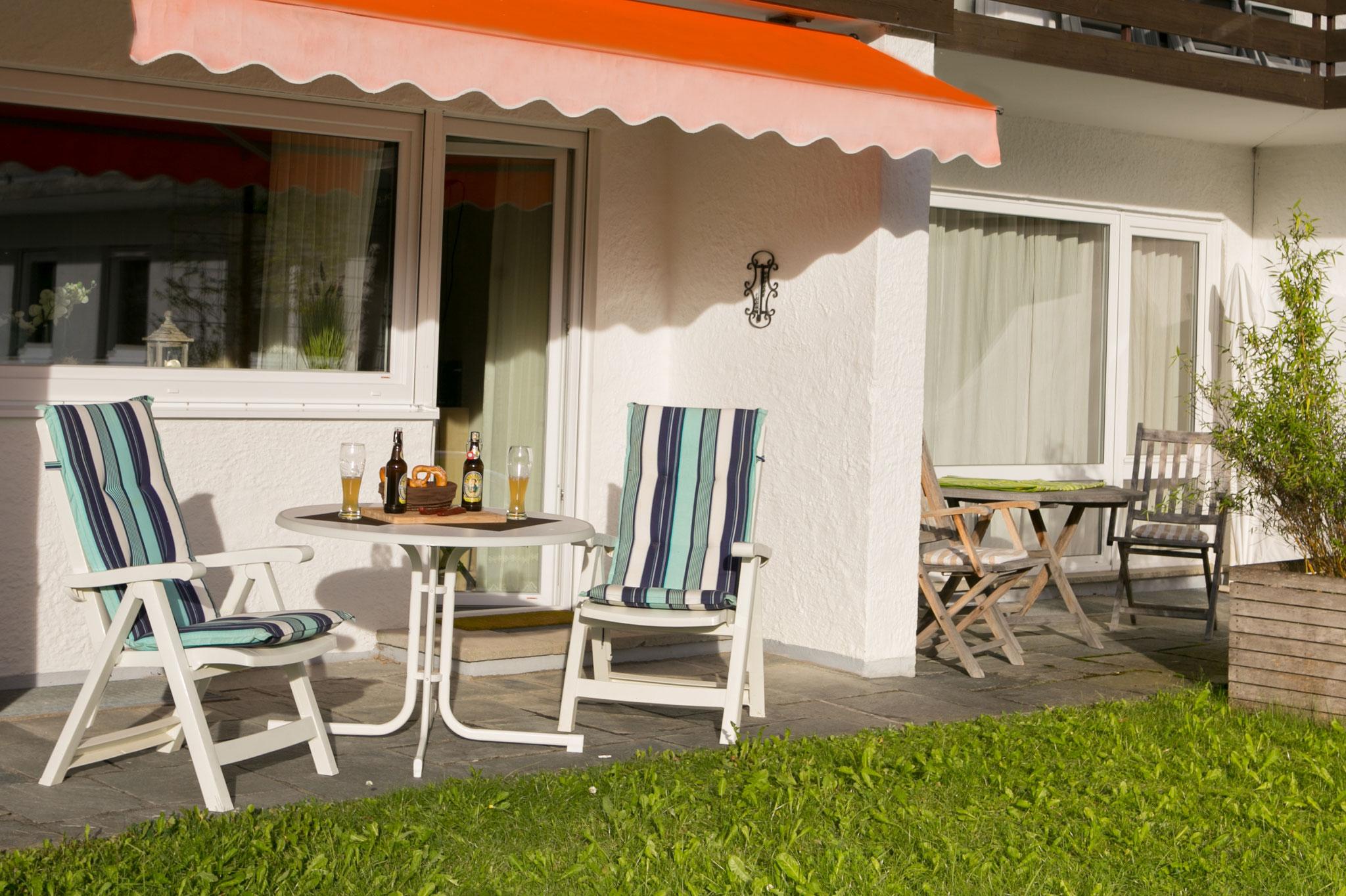 Terrasse in Südlage, Sonne bis Abends