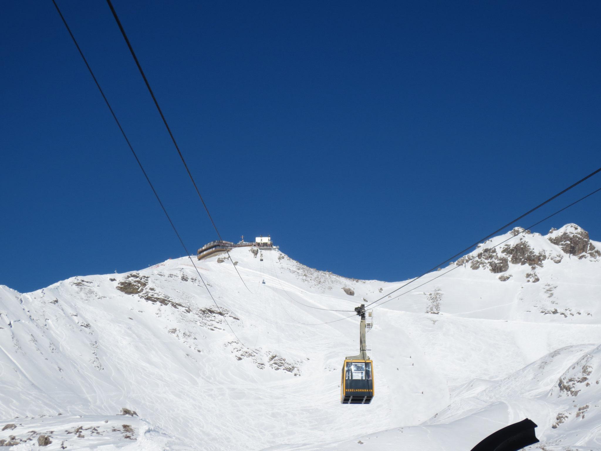 Gipfel Nebelhorn mit neuer Station