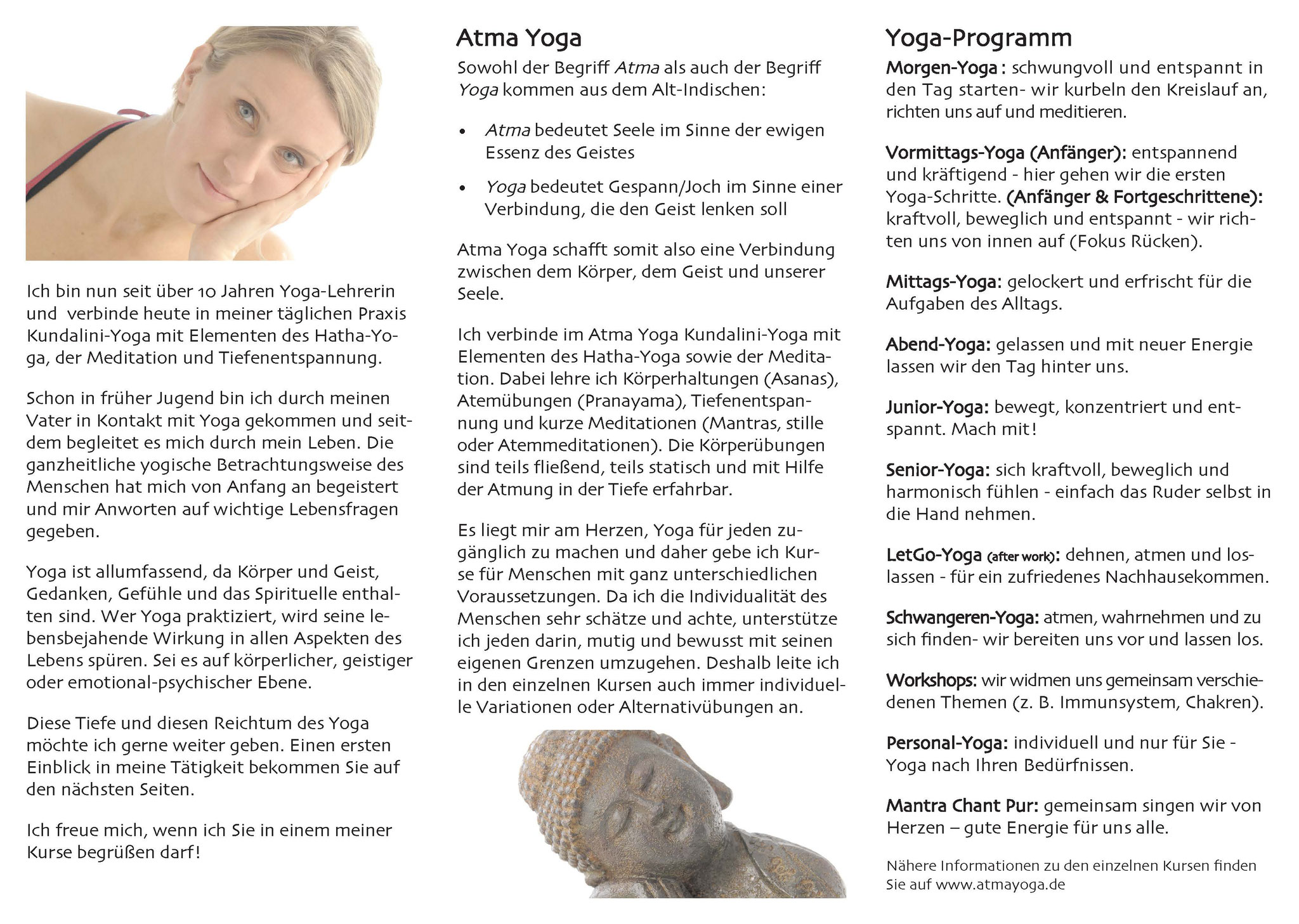 Atmayoga Flyer