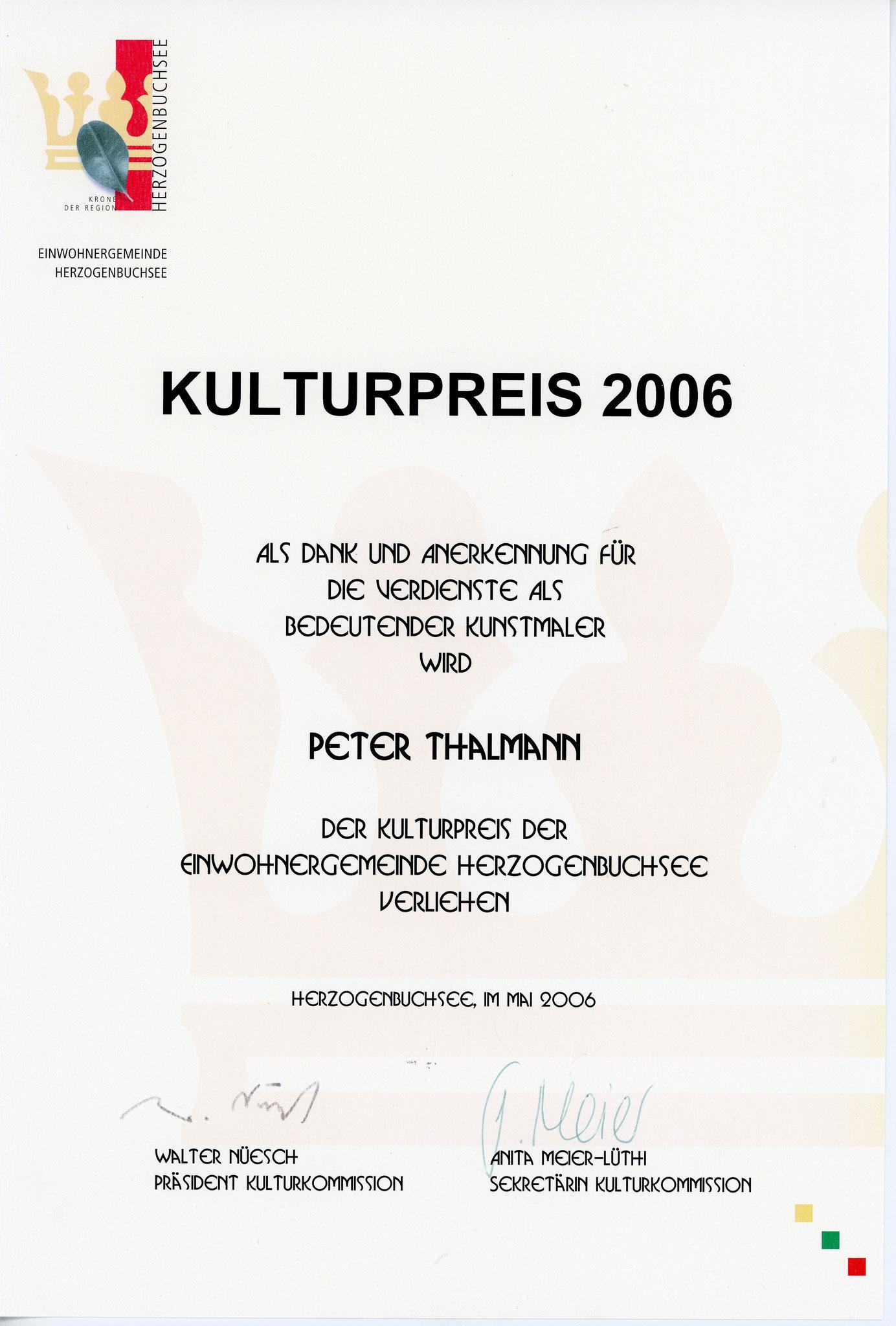 2006, Kulturpreis: Diplom