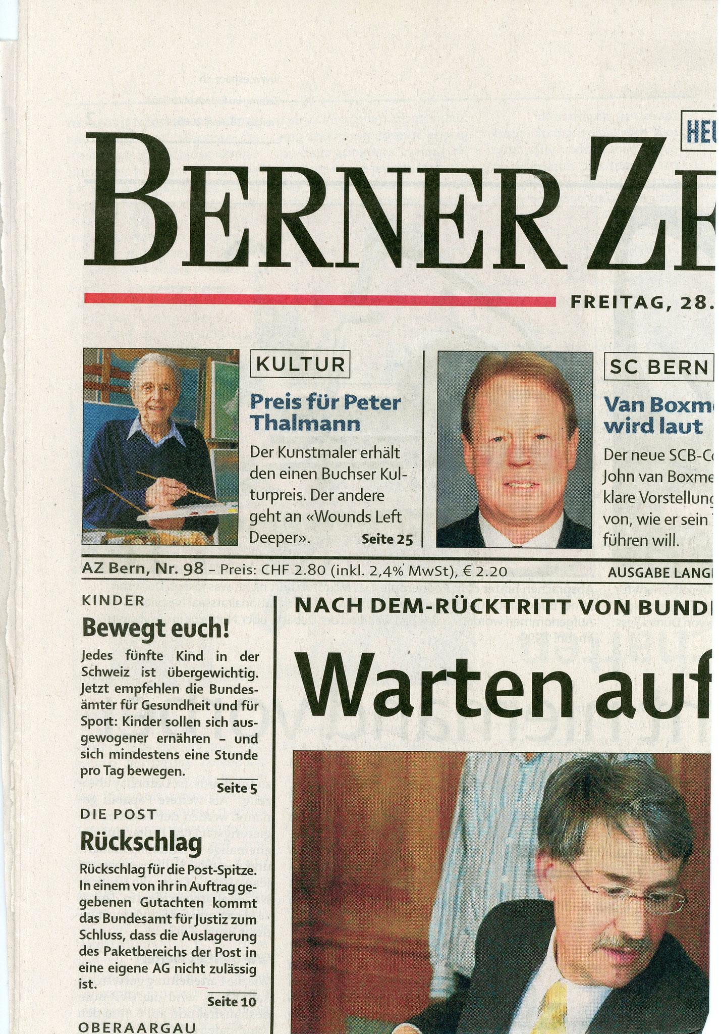 2006, Kulturpreis: Zeitungsbericht