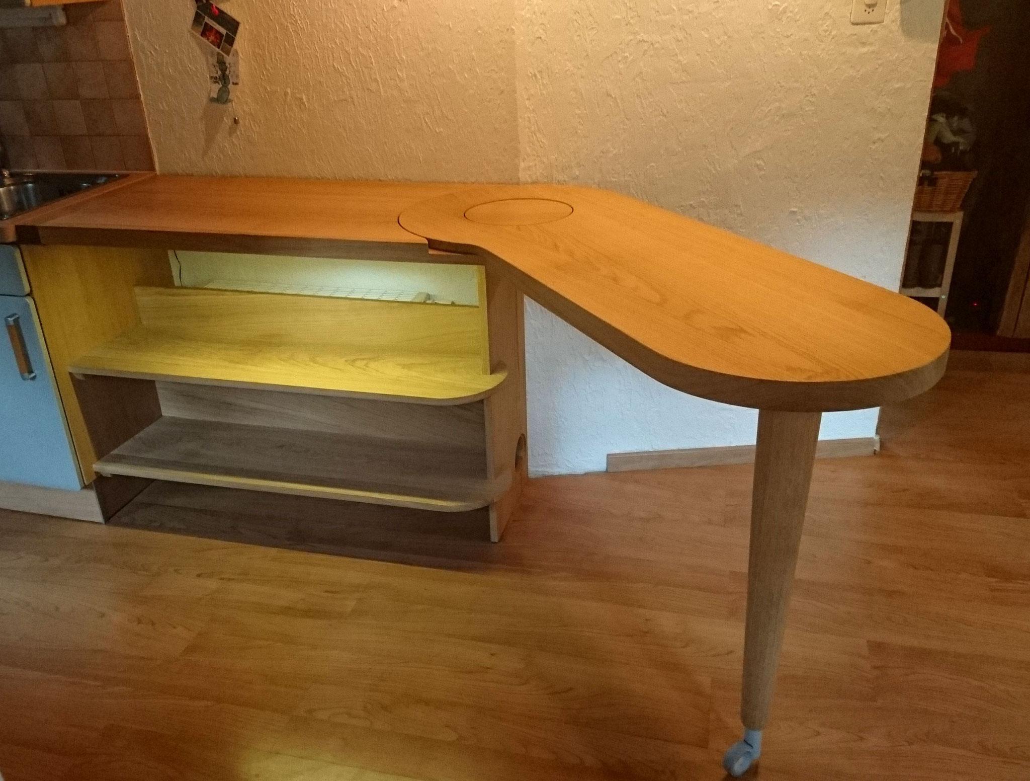 Plan De Travail Mobile mobiliers scolowood - scolowood création d'objets insolites