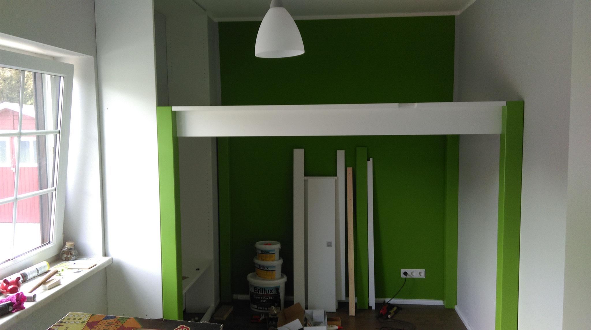 hochbett mit integriertem regal manufakturhartmanns webseite. Black Bedroom Furniture Sets. Home Design Ideas