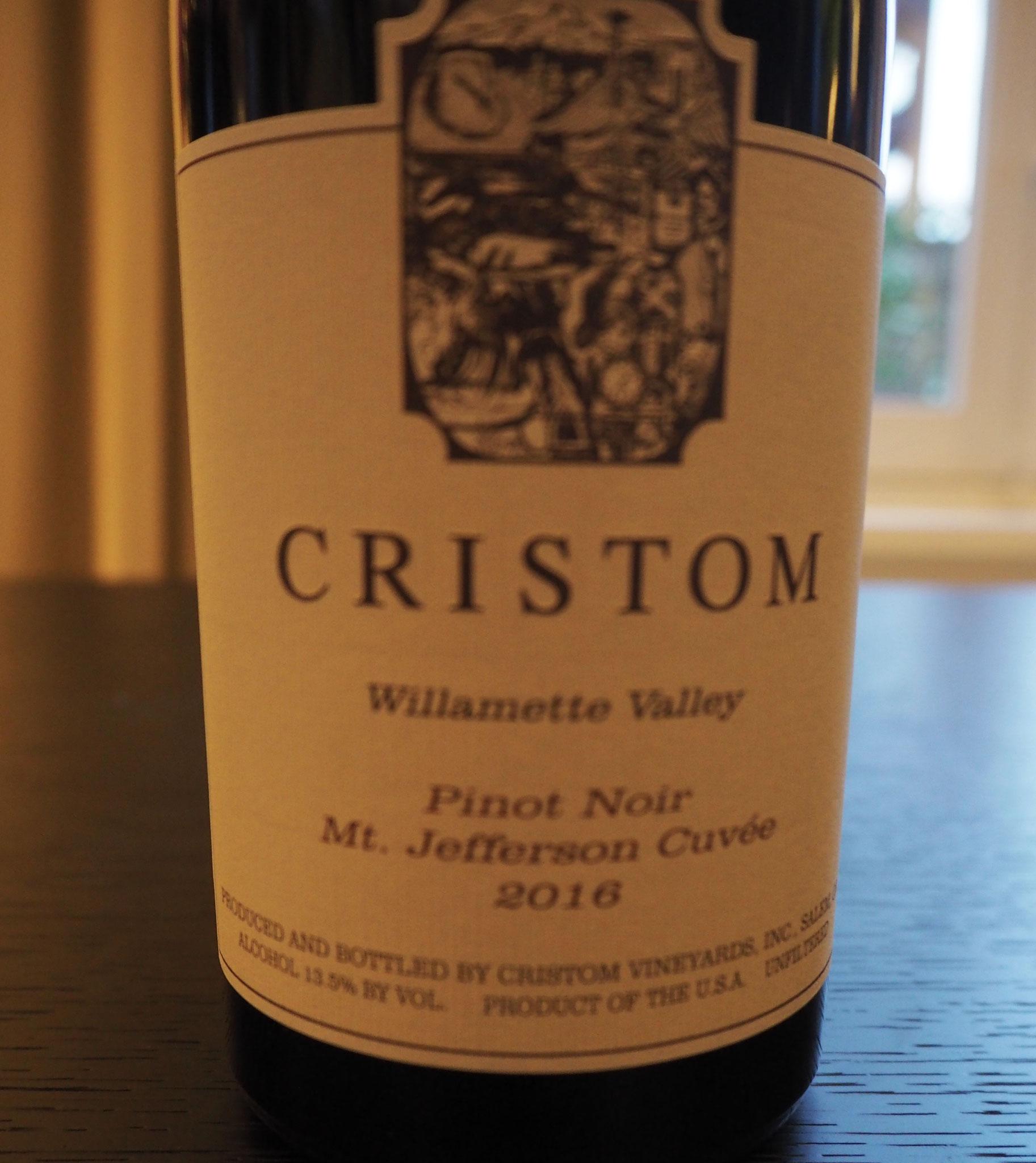 Oregon is al lang één van mijn favoriete wijngebieden, en deze Cristom bewijst waarom: gevarieerd rood fruit, rijp, complexe elegantie en lange finale A