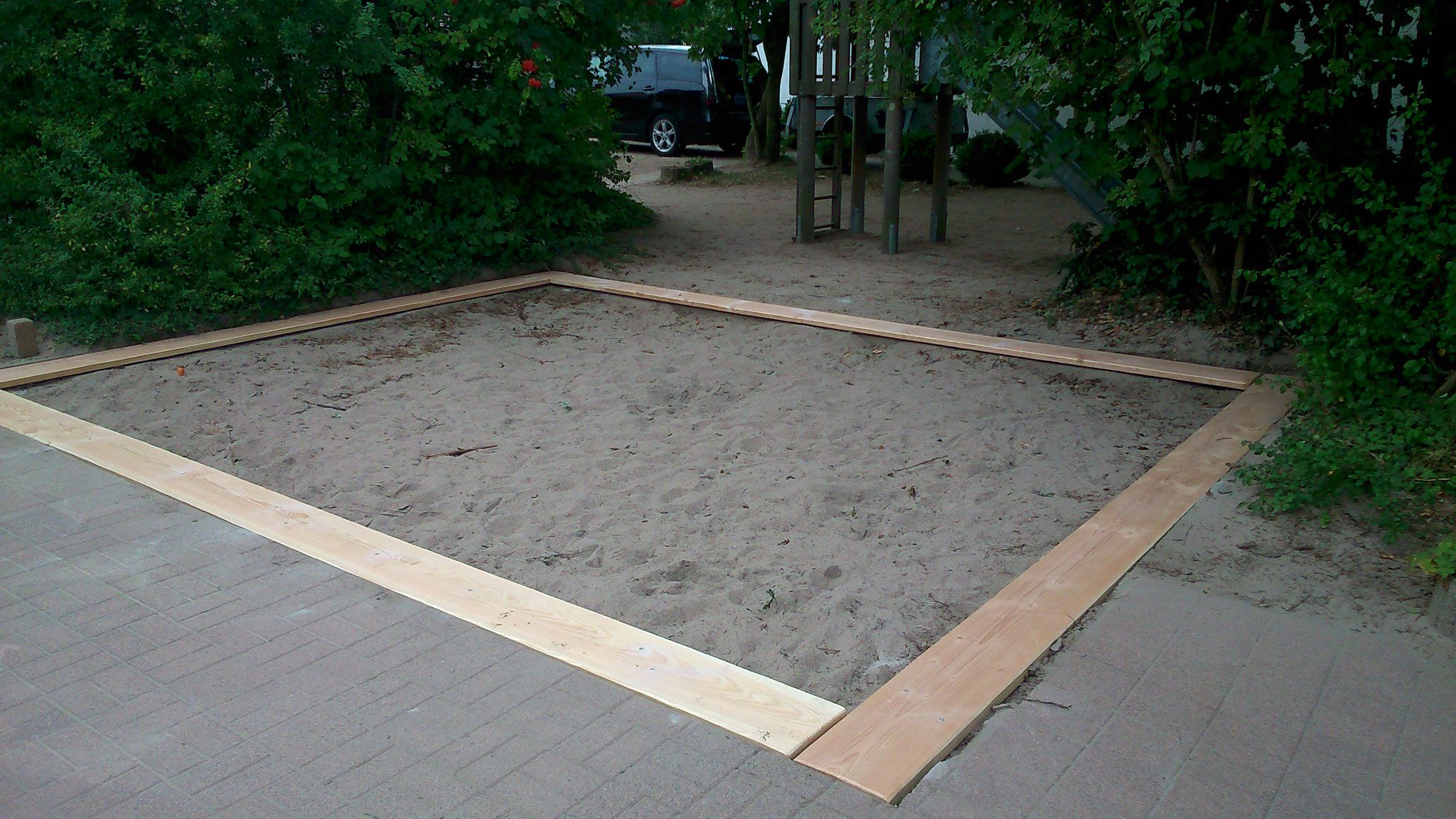 Sandkastenumrandung