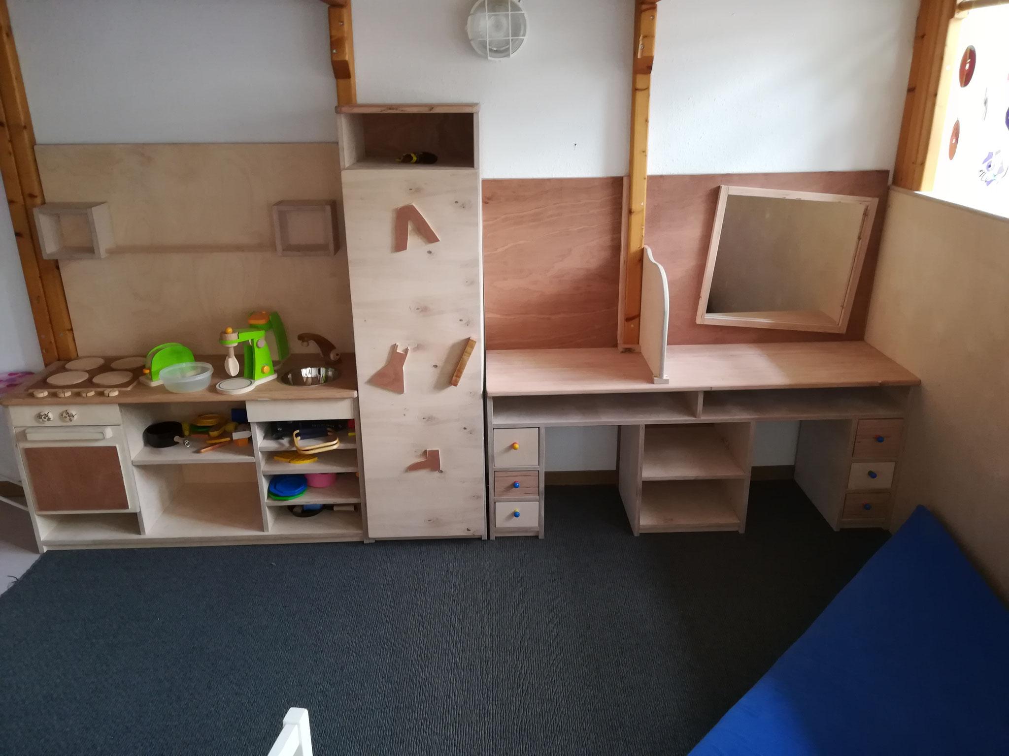 Alle drei Möbel im Kindergarten