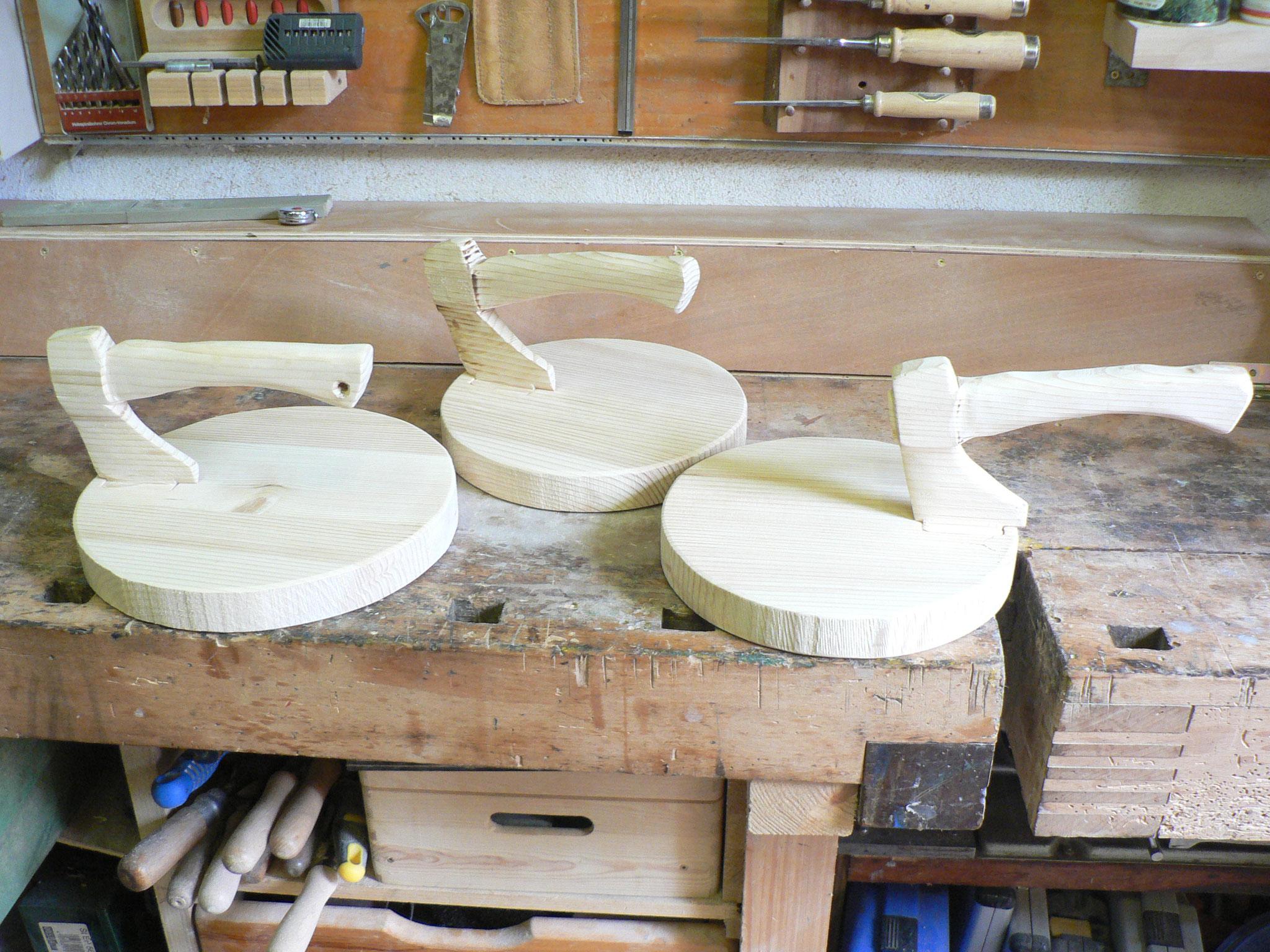 Stamperlbretter nicht nur für Gläser auch für Käse oder Wurst geeignet