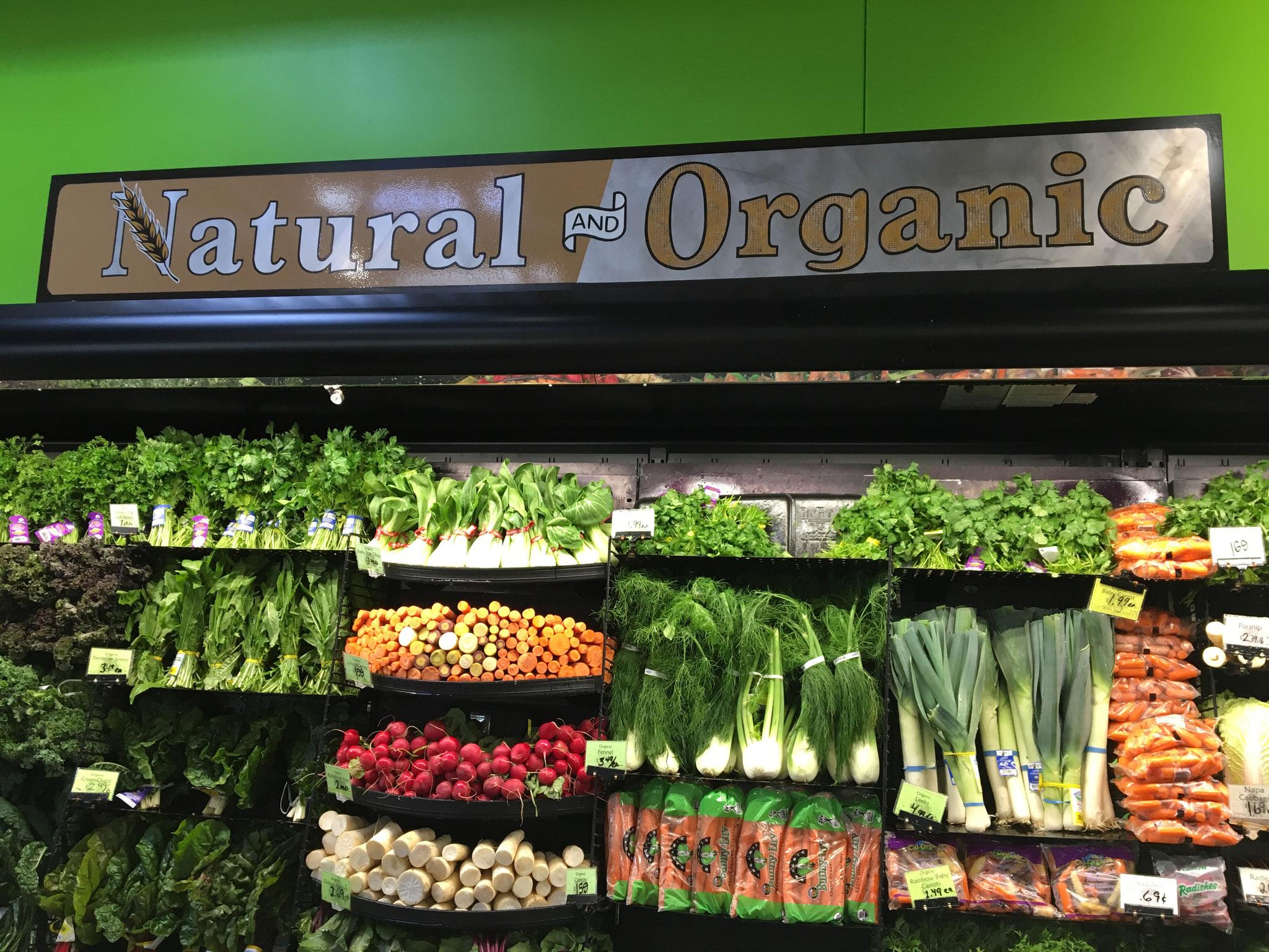 スーパーでもオーガニック食材が豊富