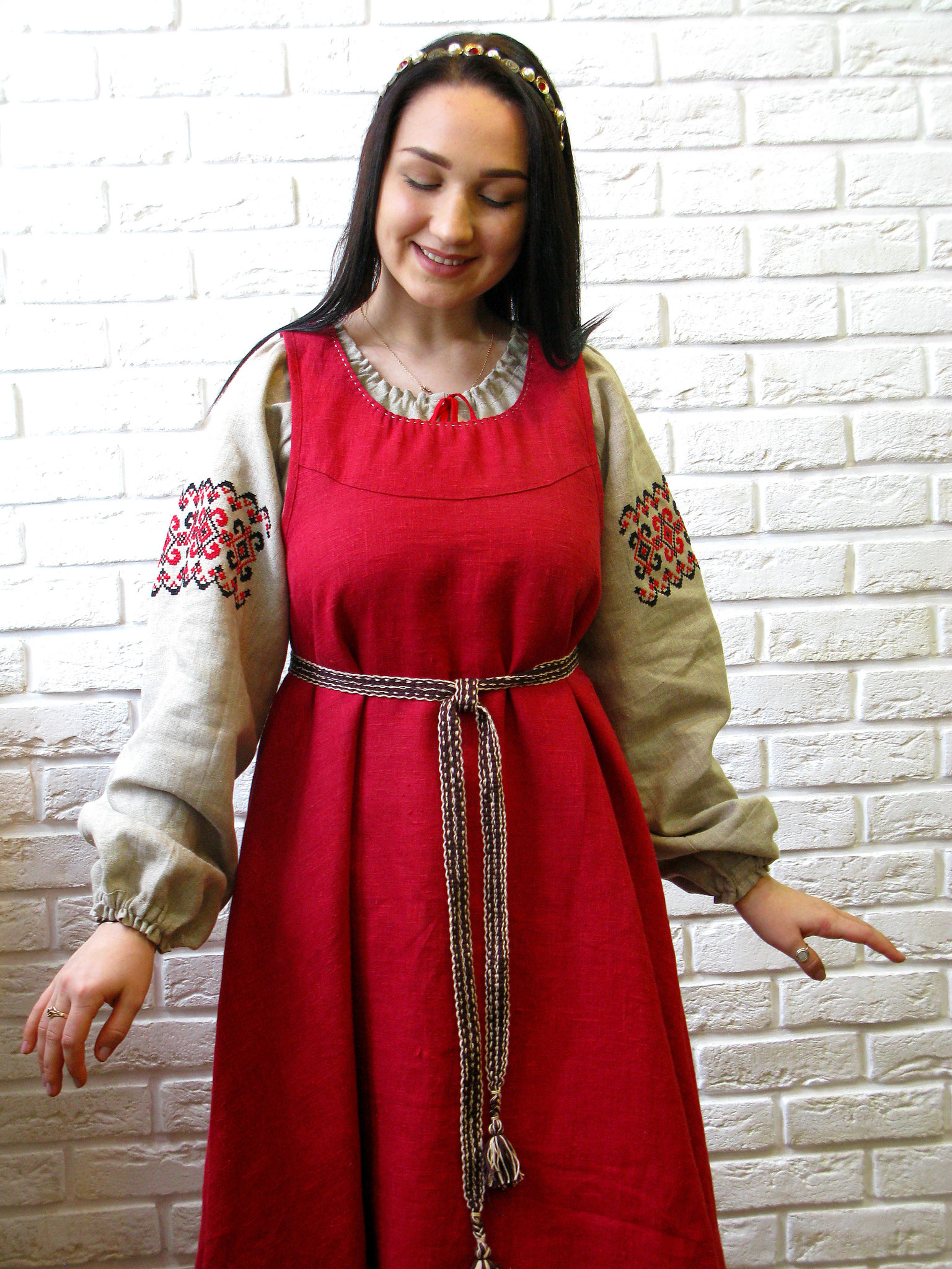 traditional russian dress, russian style dress