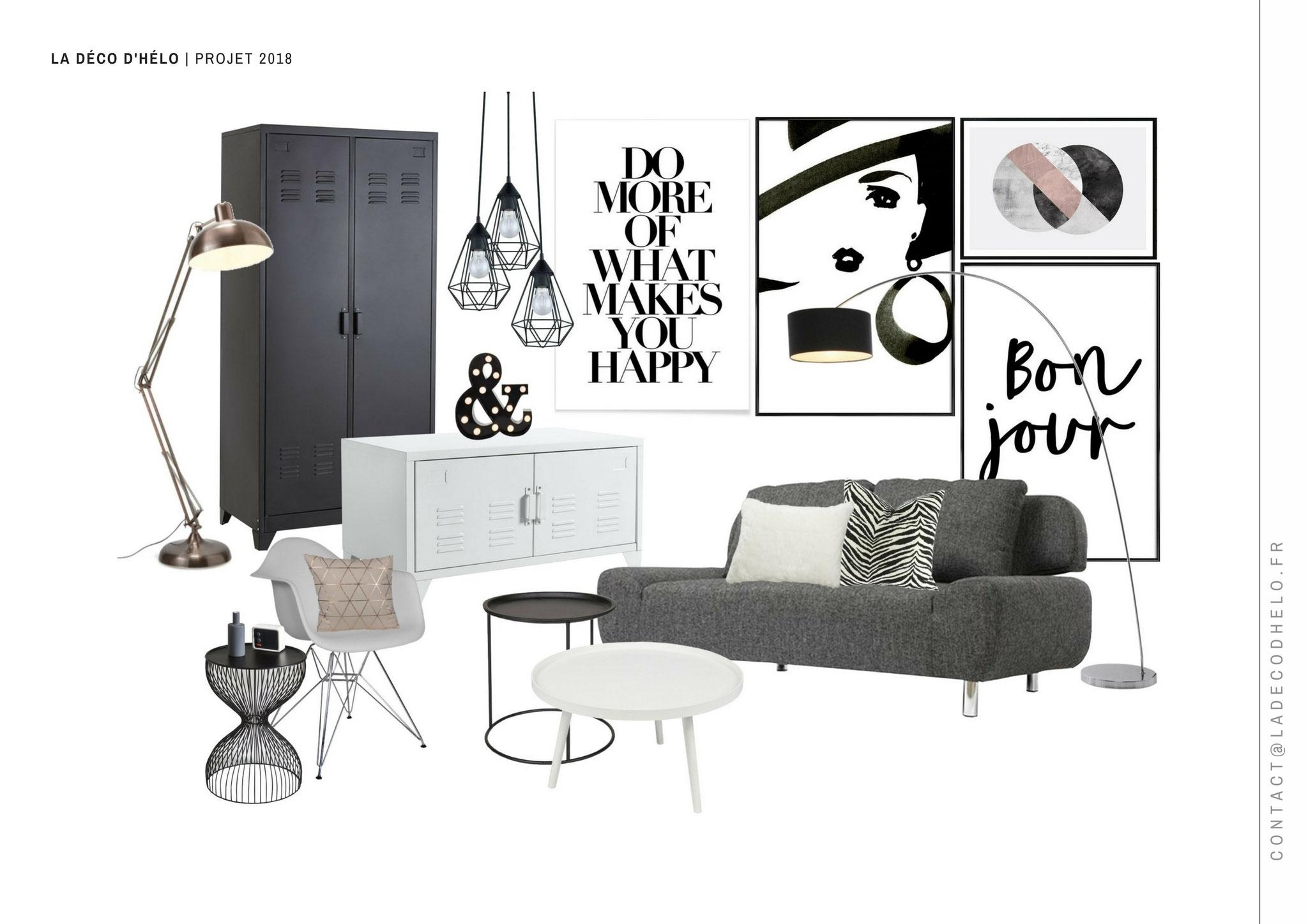 Shopping mobilier, petite déco et luminaires : Projet Uriage | © La Déco d'Hélo, 2018.