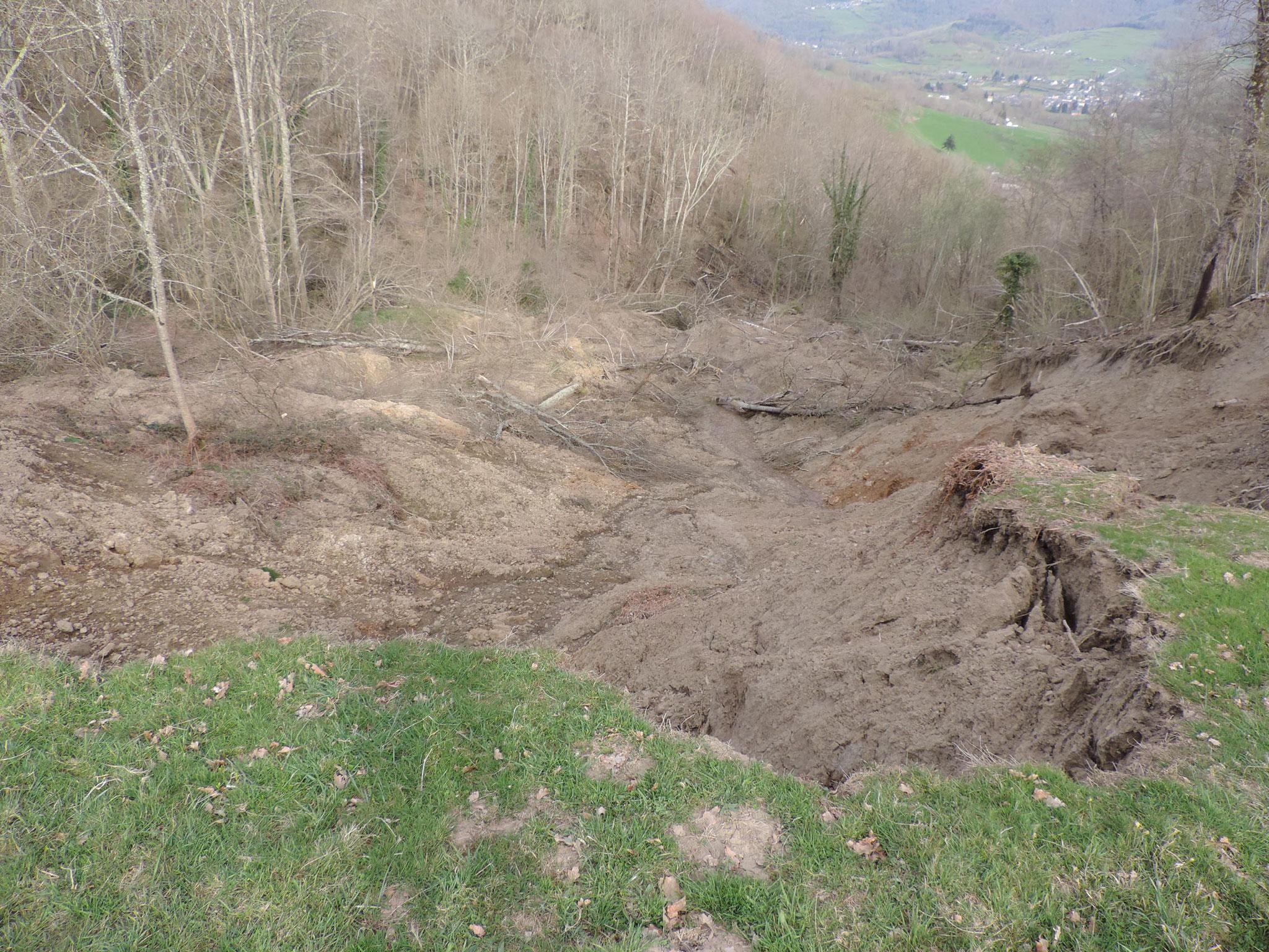 Glissement de terrain à Sor. © DDT 09