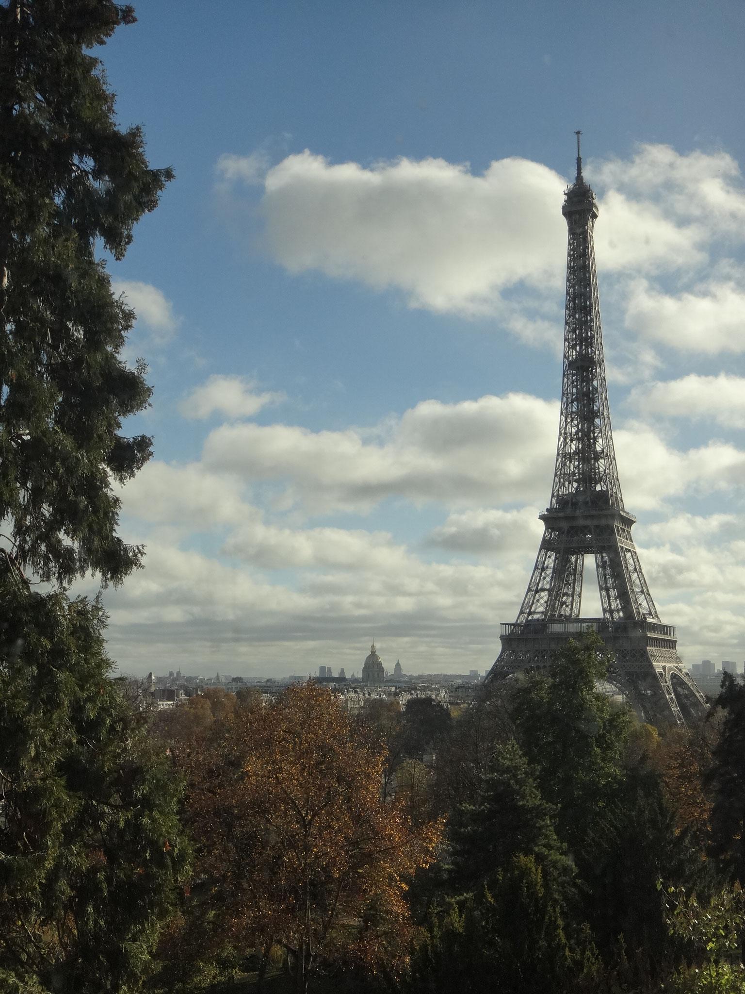 Une jolie vue sur la tour Eiffel
