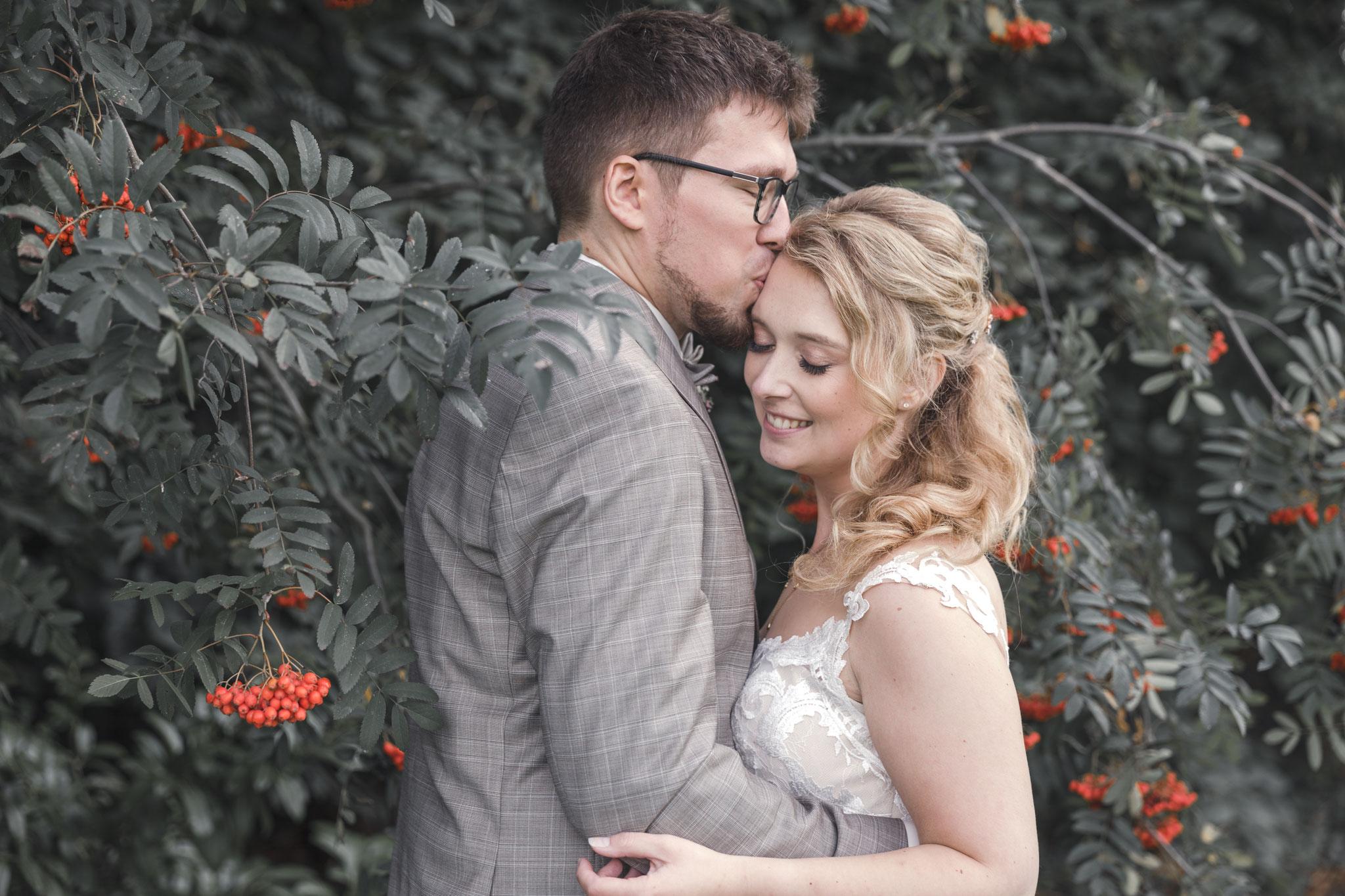 stille Momente sind bei allem Hochzeitstrubel auch wichtig