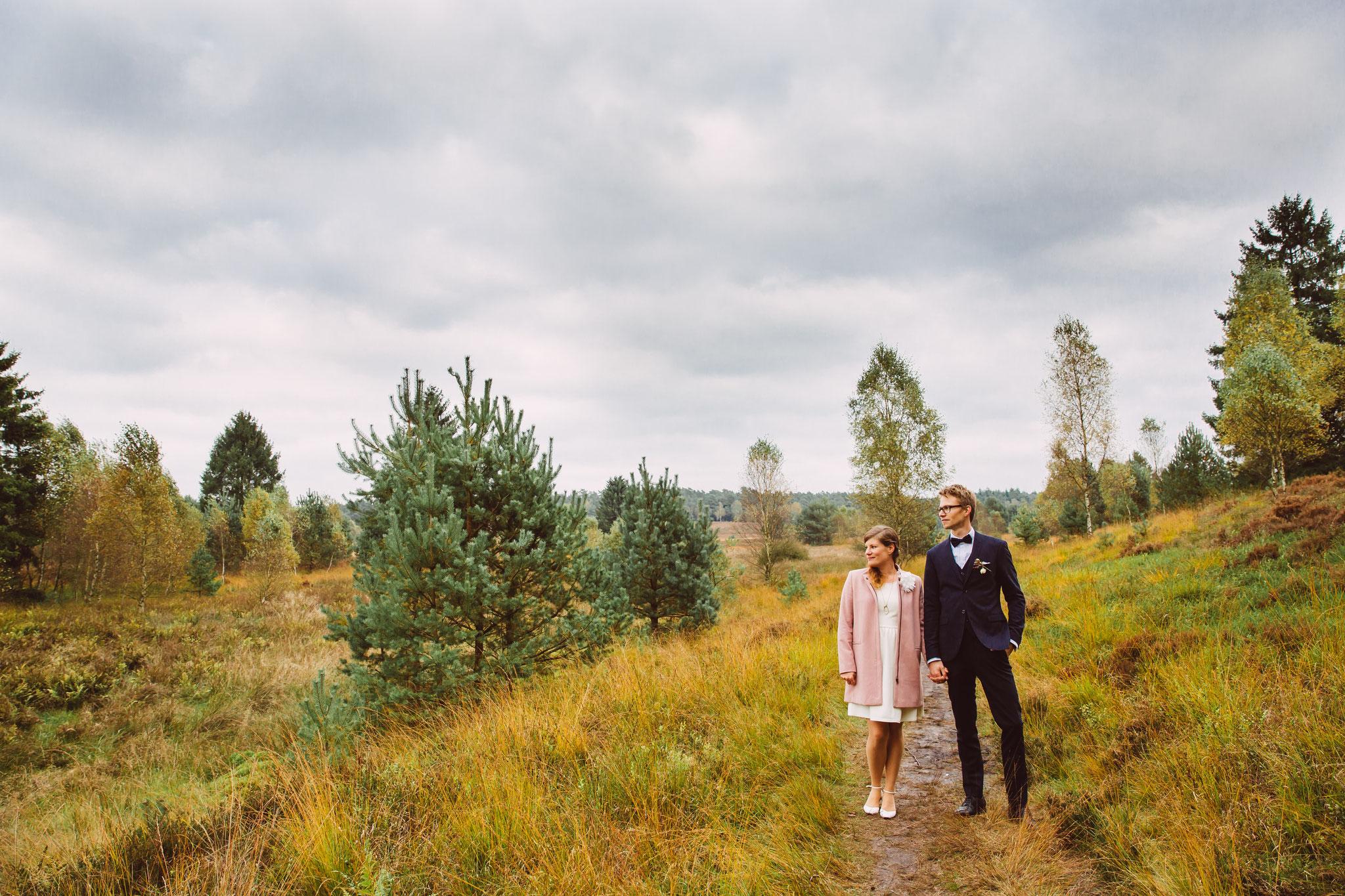 Hochzeitsfoto aus der Heide